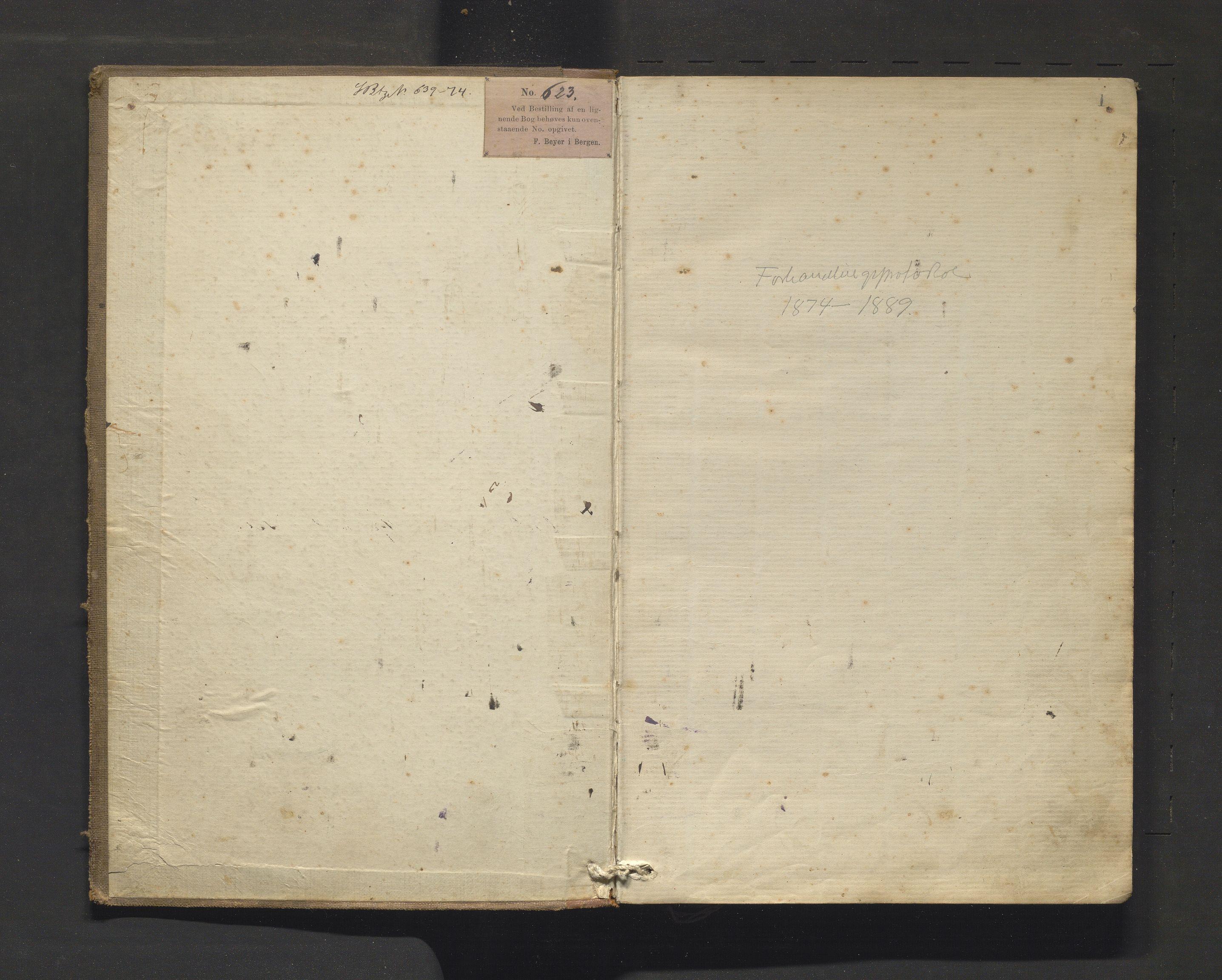 IKAH, Strandebarm kommune. Formannskapet, A/Aa/L0002: Møtebok for formannskap og heradsstyre, 1874-1889
