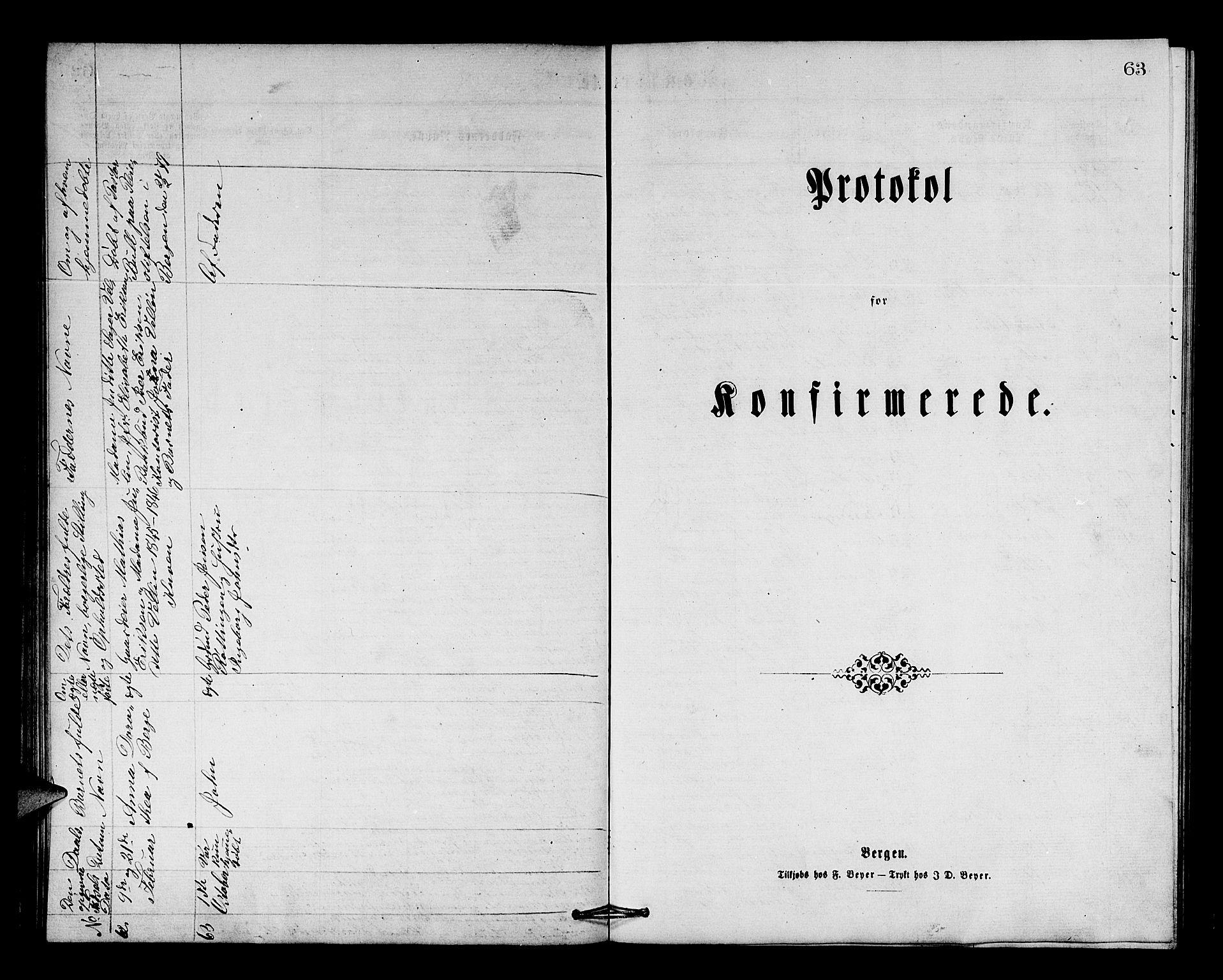SAB, Os sokneprestembete*, Parish register (copy) no. A 1, 1869-1879, p. 63