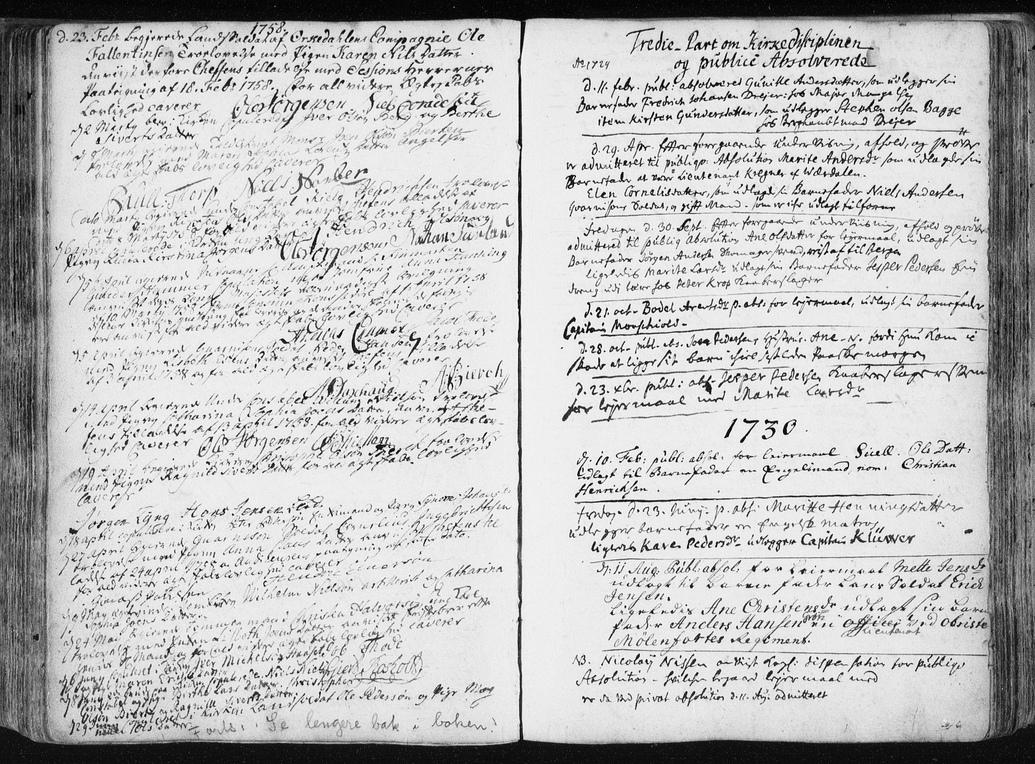 SAT, Ministerialprotokoller, klokkerbøker og fødselsregistre - Sør-Trøndelag, 601/L0036: Parish register (official) no. 601A04, 1729-1769
