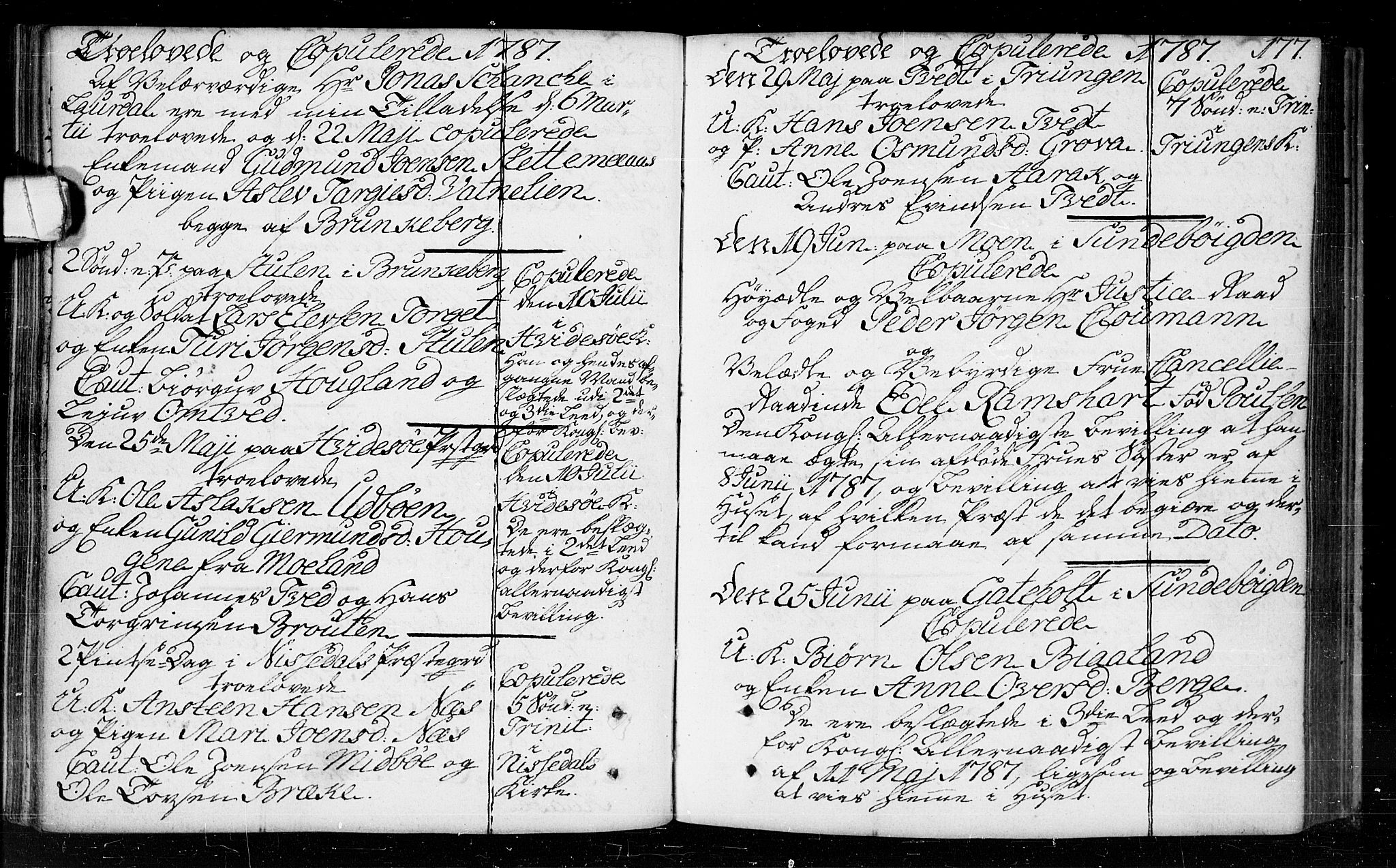 SAKO, Kviteseid kirkebøker, F/Fa/L0003: Parish register (official) no. I 3, 1787-1799, p. 177