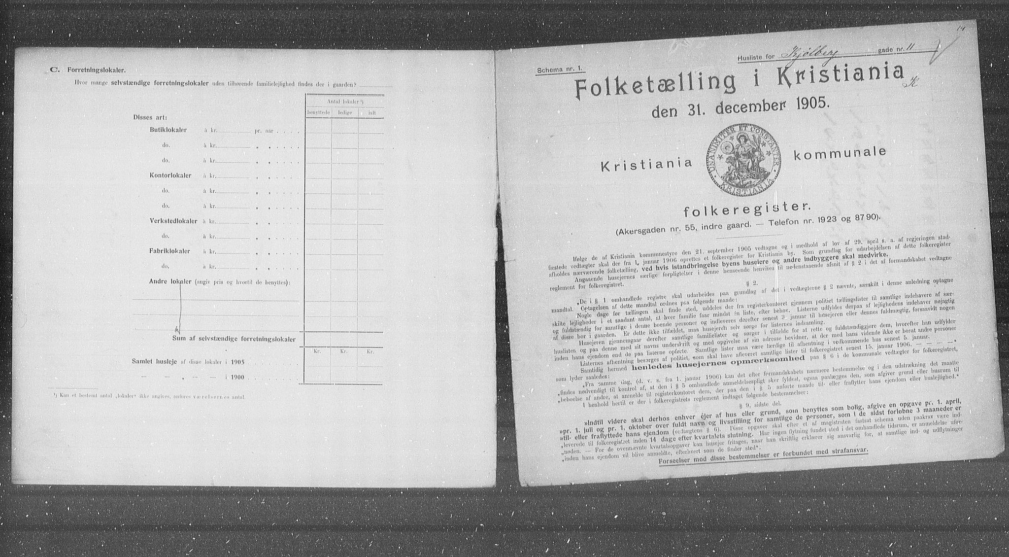 OBA, Municipal Census 1905 for Kristiania, 1905, p. 27080