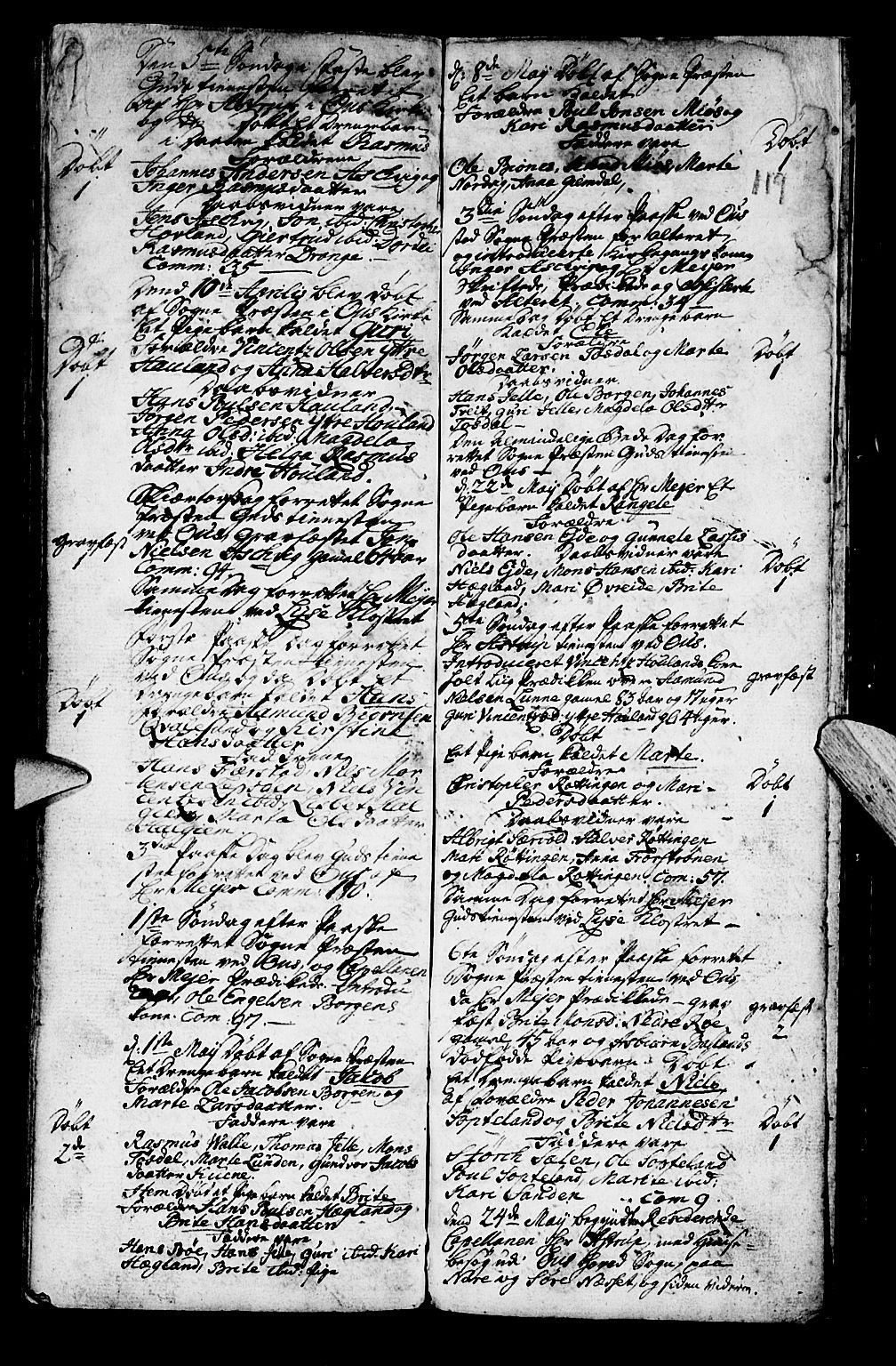 SAB, Os sokneprestembete*, Parish register (official) no. A 2, 1723-1758, p. 119