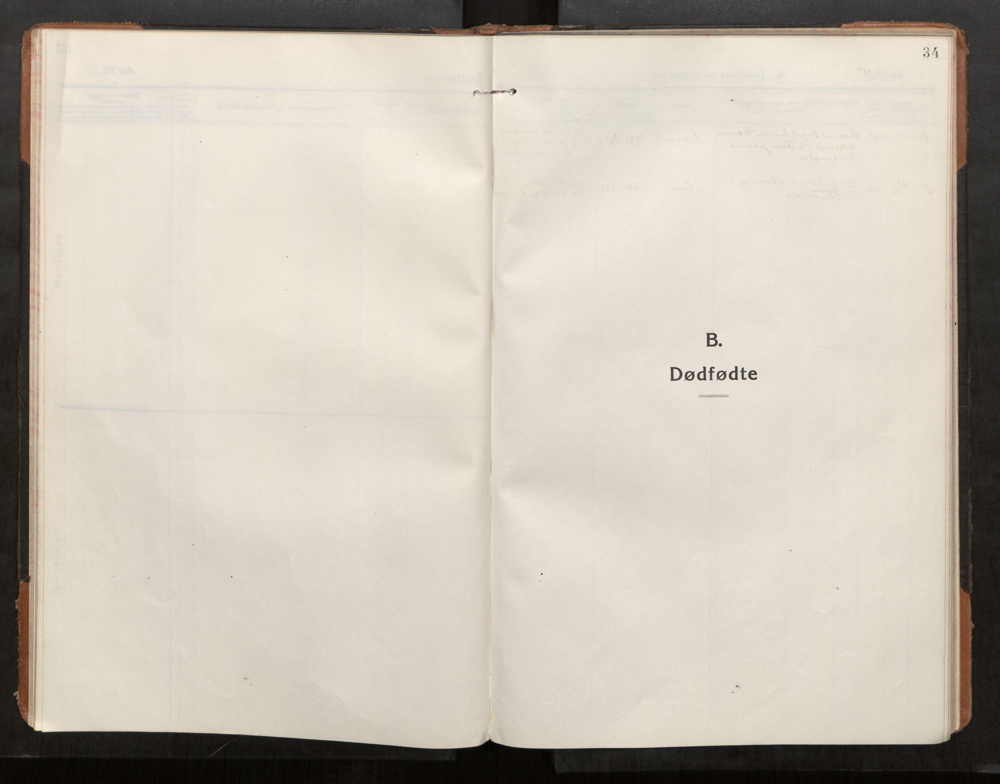 SAT, Stod sokneprestkontor, I/I1/I1a/L0004: Parish register (official) no. 4, 1913-1933, p. 34