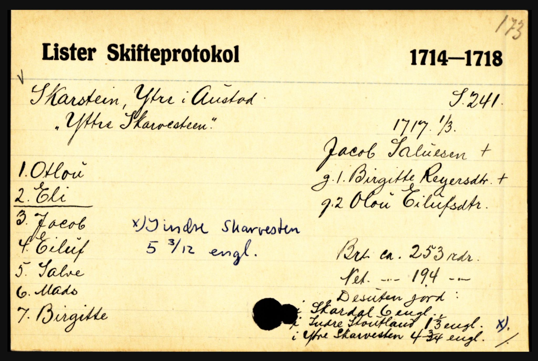 SAK, Lister sorenskriveri, H, p. 33451