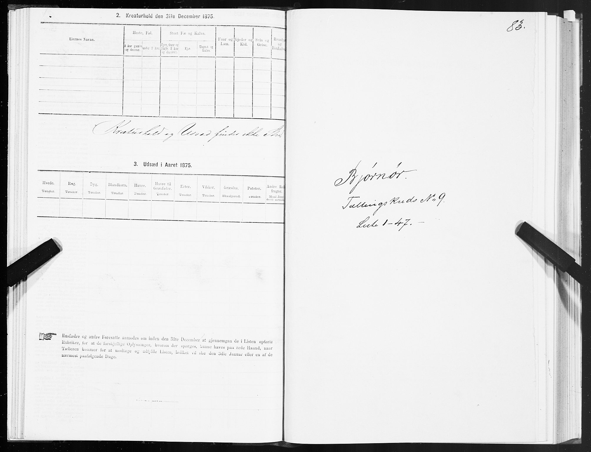 SAT, 1875 census for 1632P Bjørnør, 1875, p. 4083