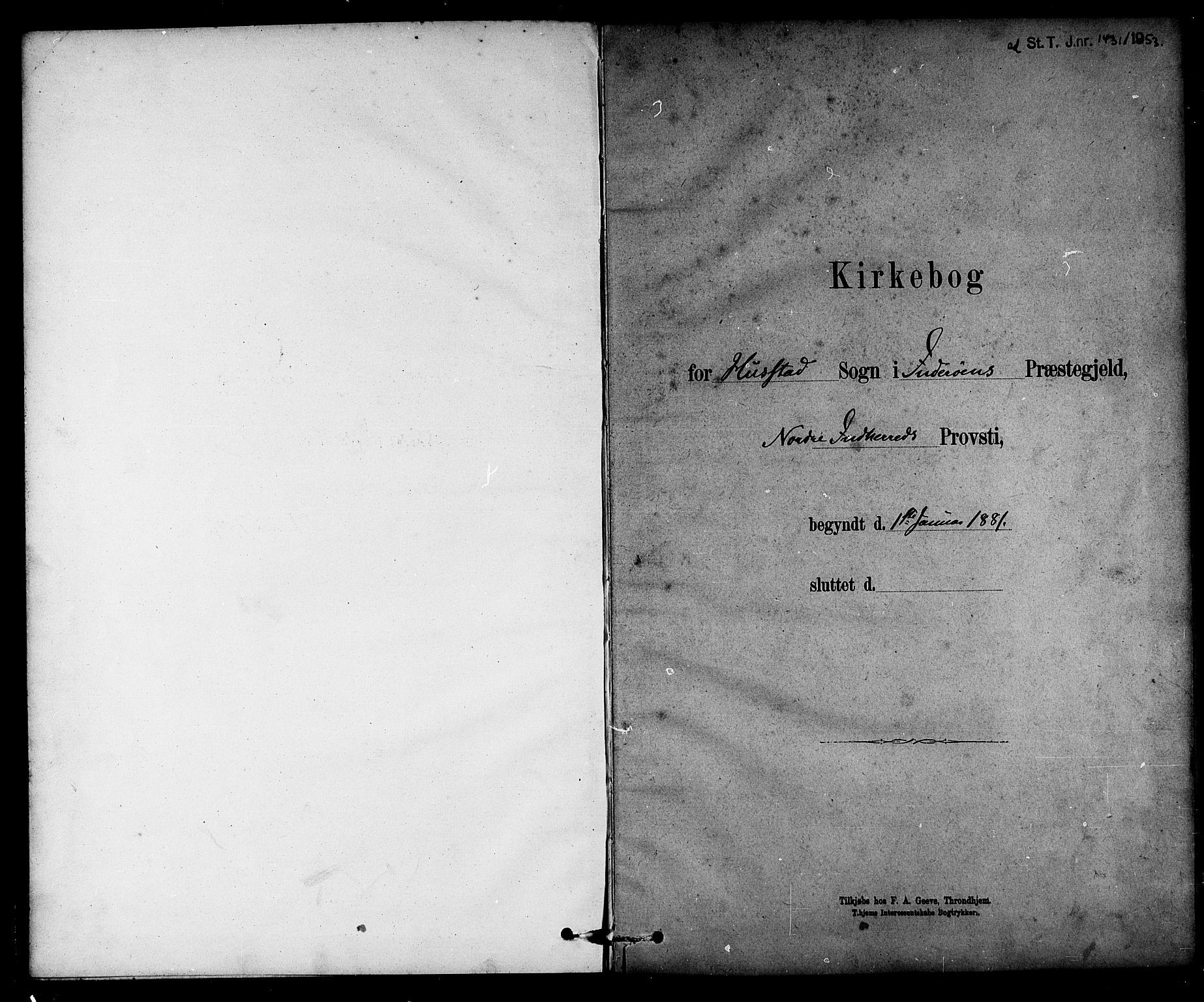 SAT, Ministerialprotokoller, klokkerbøker og fødselsregistre - Nord-Trøndelag, 732/L0318: Parish register (copy) no. 732C02, 1881-1911