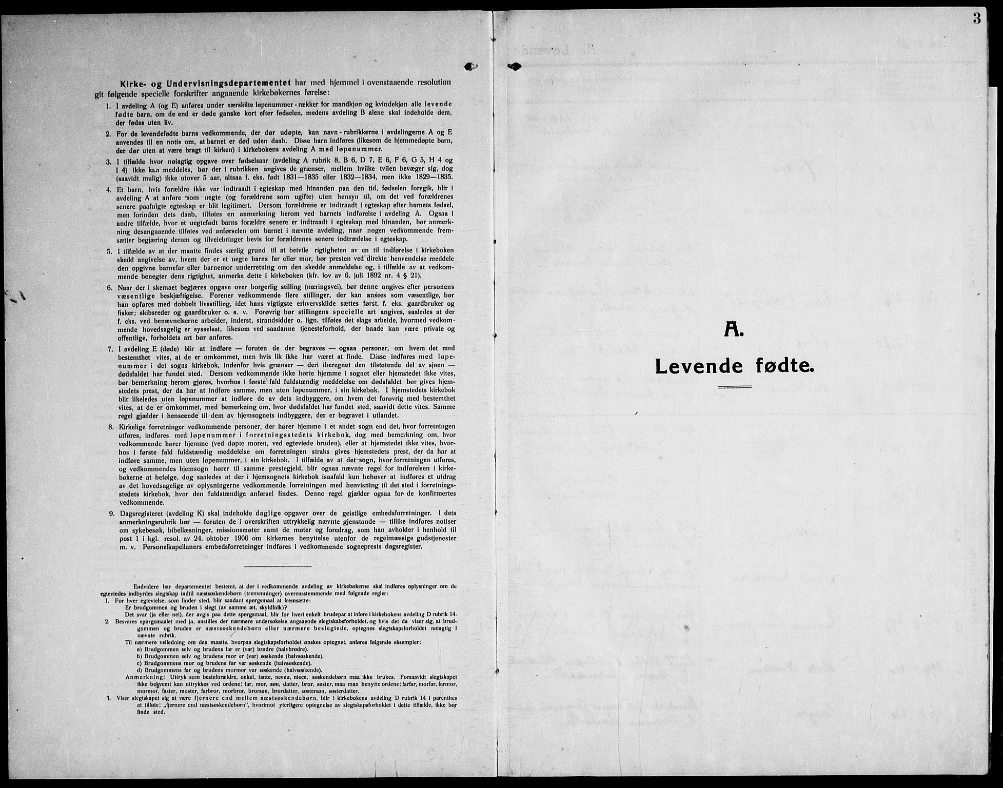 SAT, Ministerialprotokoller, klokkerbøker og fødselsregistre - Nord-Trøndelag, 732/L0319: Parish register (copy) no. 732C03, 1911-1945, p. 3