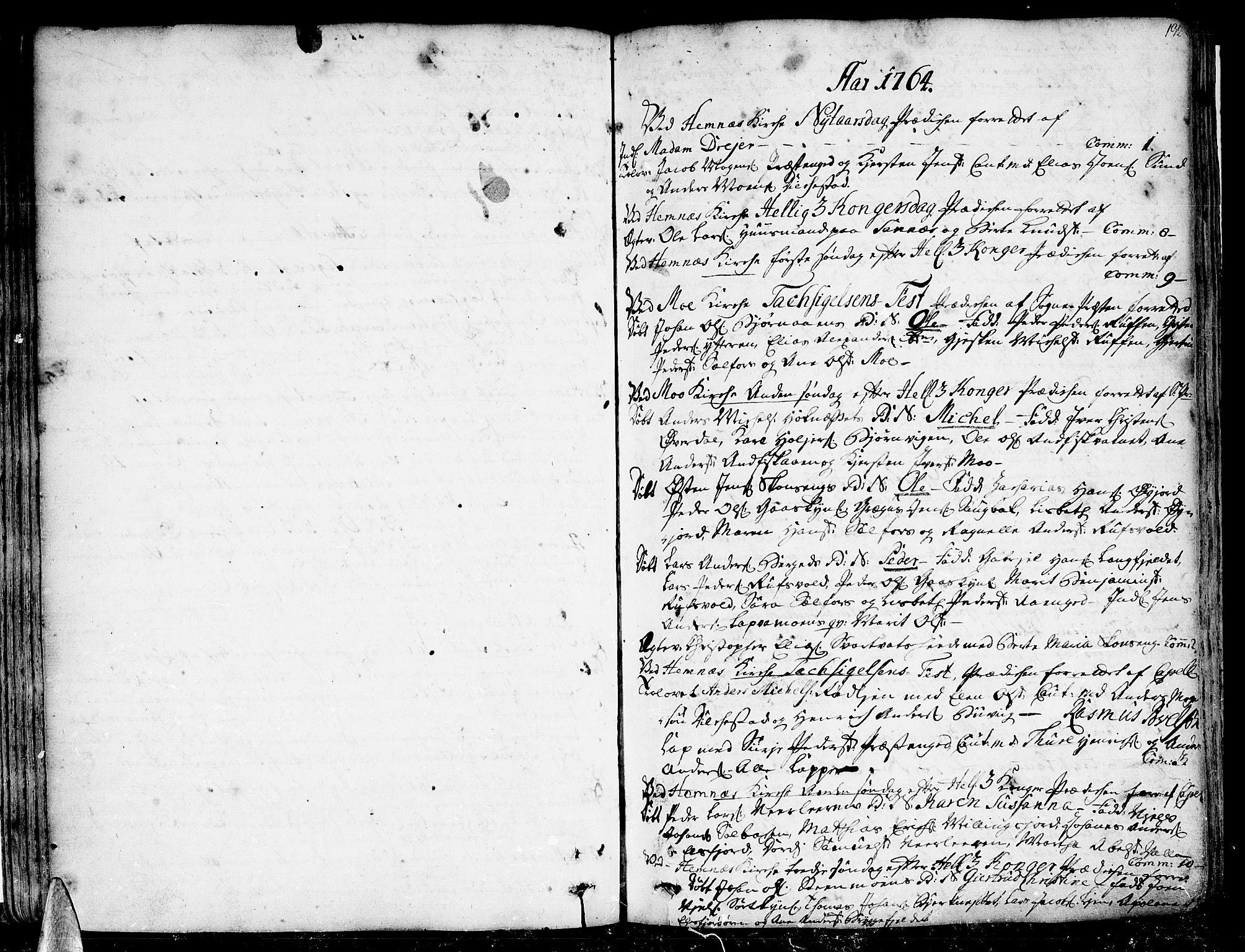 SAT, Ministerialprotokoller, klokkerbøker og fødselsregistre - Nordland, 825/L0348: Parish register (official) no. 825A04, 1752-1788, p. 132