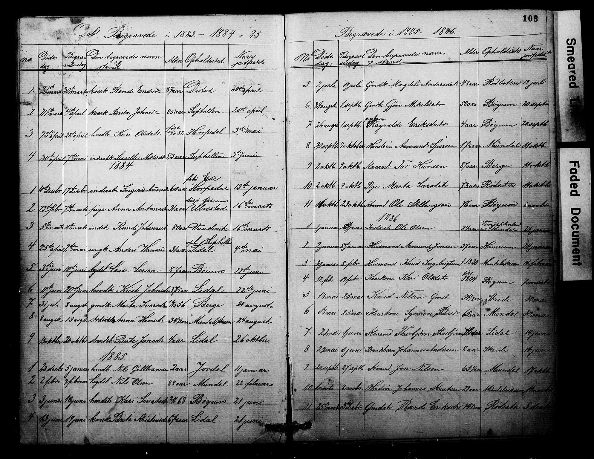 SAB, Balestrand sokneprestembete, Parish register (copy) no. B 1A, 1880-1916, p. 108