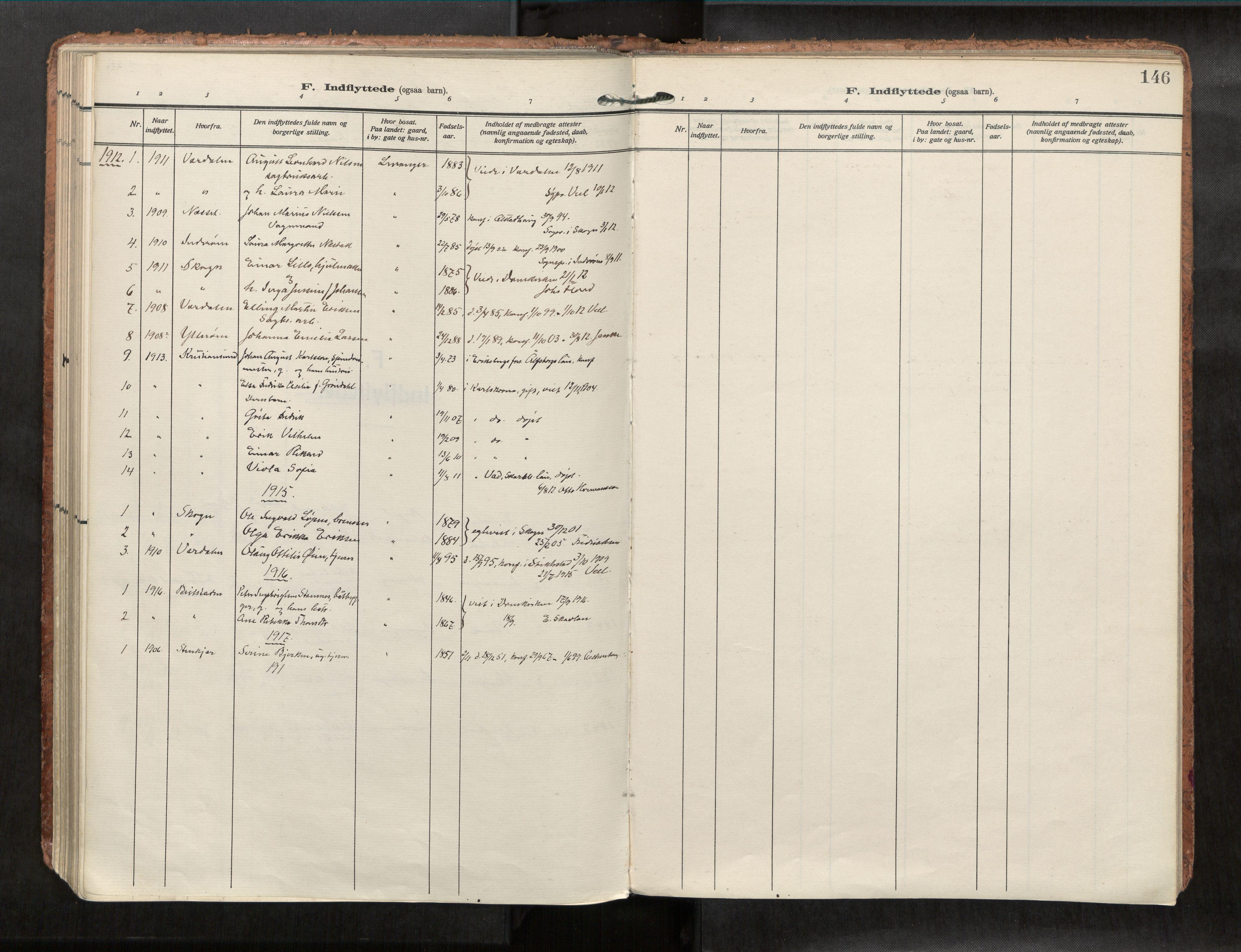 SAT, Levanger sokneprestkontor*, Parish register (official) no. 1, 1912-1932, p. 146