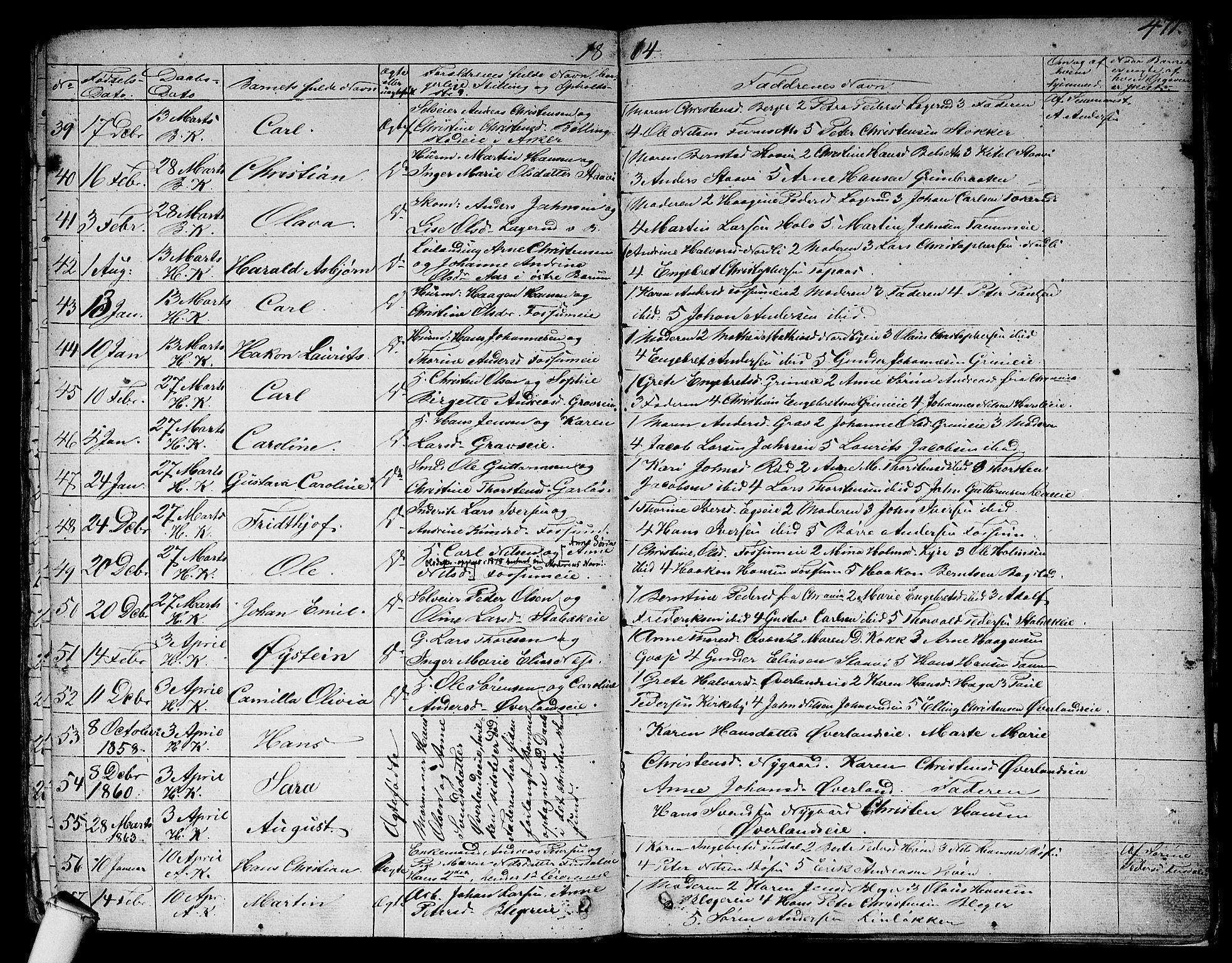 SAO, Asker prestekontor Kirkebøker, F/Fa/L0007: Parish register (official) no. I 7, 1825-1864, p. 471