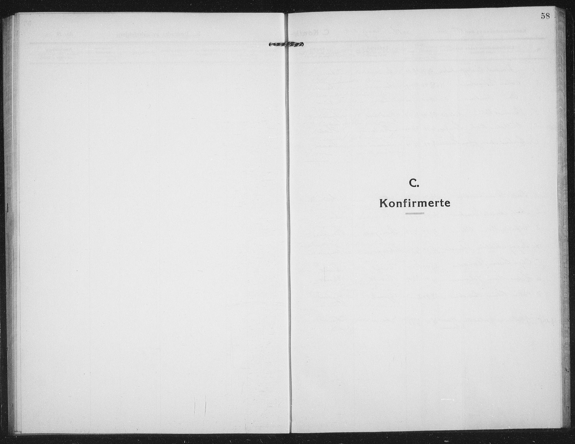 SATØ, Tranøy sokneprestkontor, I/Ia/Iab/L0019klokker: Parish register (copy) no. 19, 1914-1940, p. 58