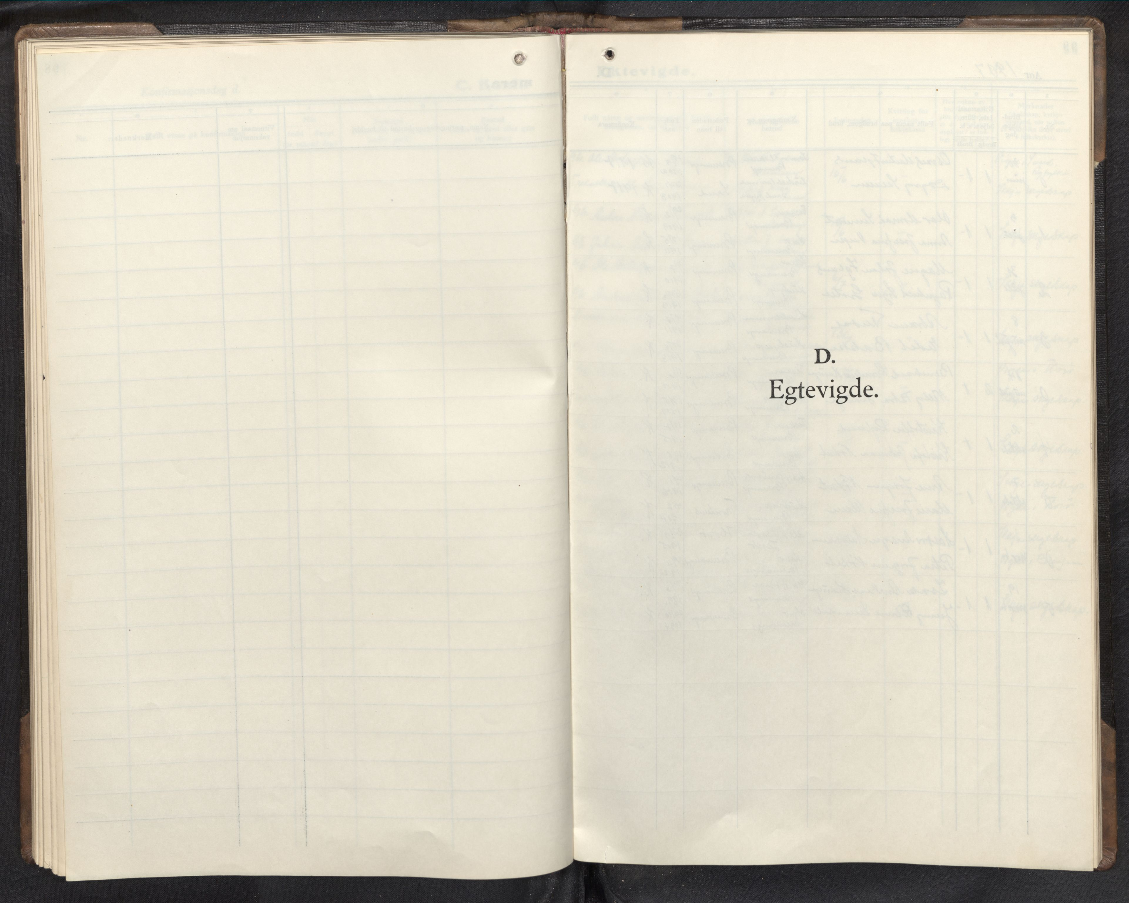 SAB, Bremanger Sokneprestembete, H/Hab: Parish register (copy) no. C 3, 1936-1952