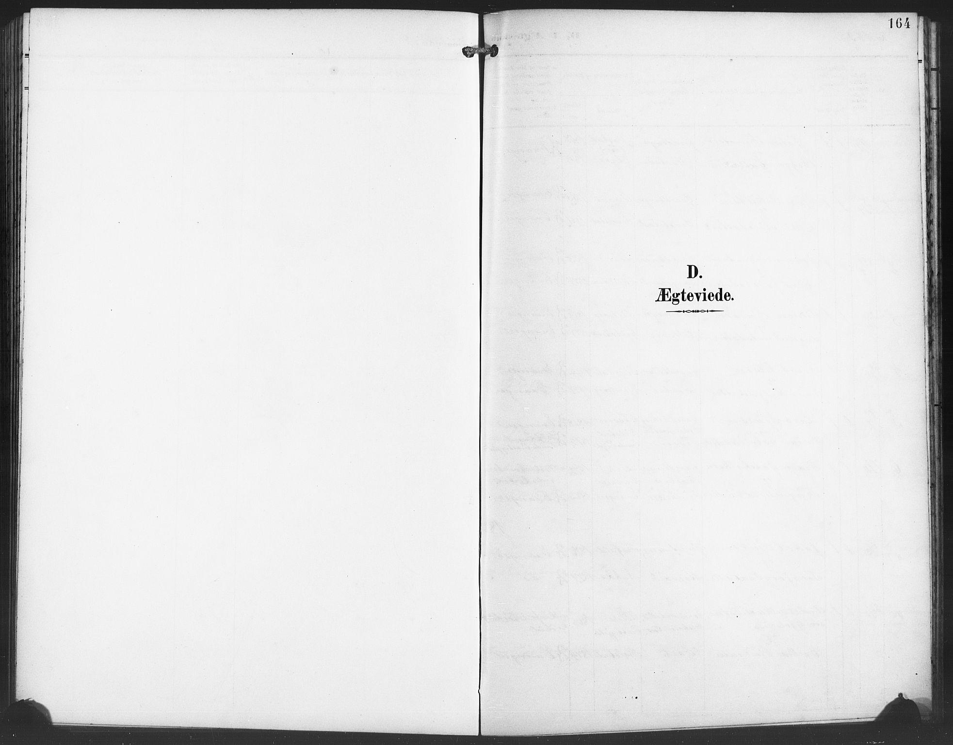 SAB, Evanger sokneprestembete*, Parish register (copy) no. A 5, 1897-1917, p. 164