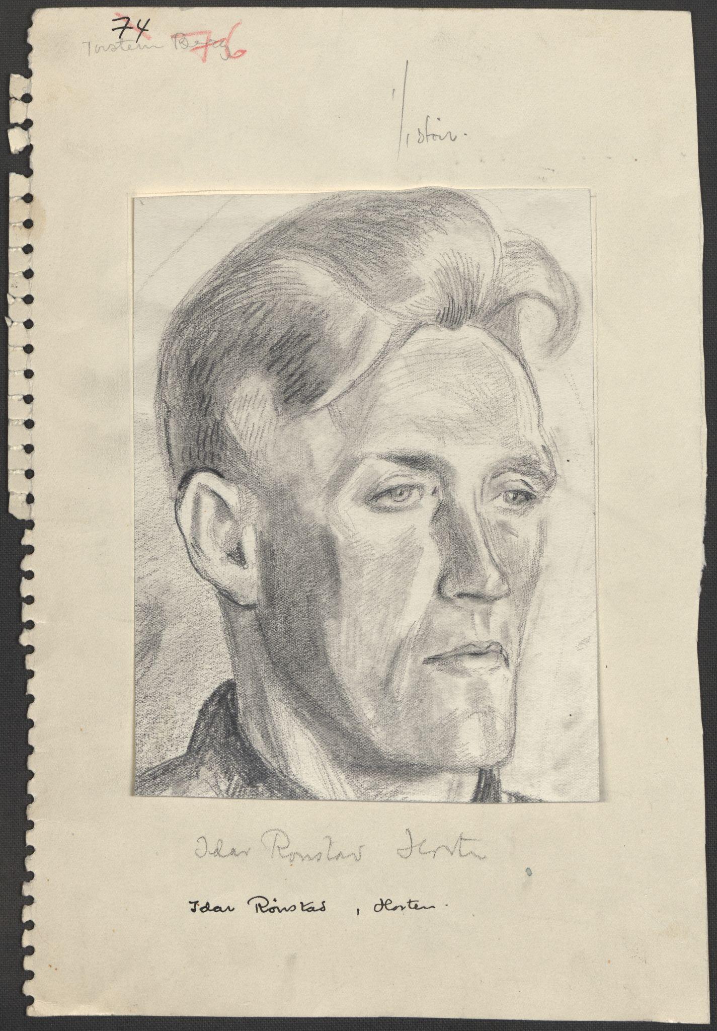 RA, Grøgaard, Joachim, F/L0002: Tegninger og tekster, 1942-1945, p. 122