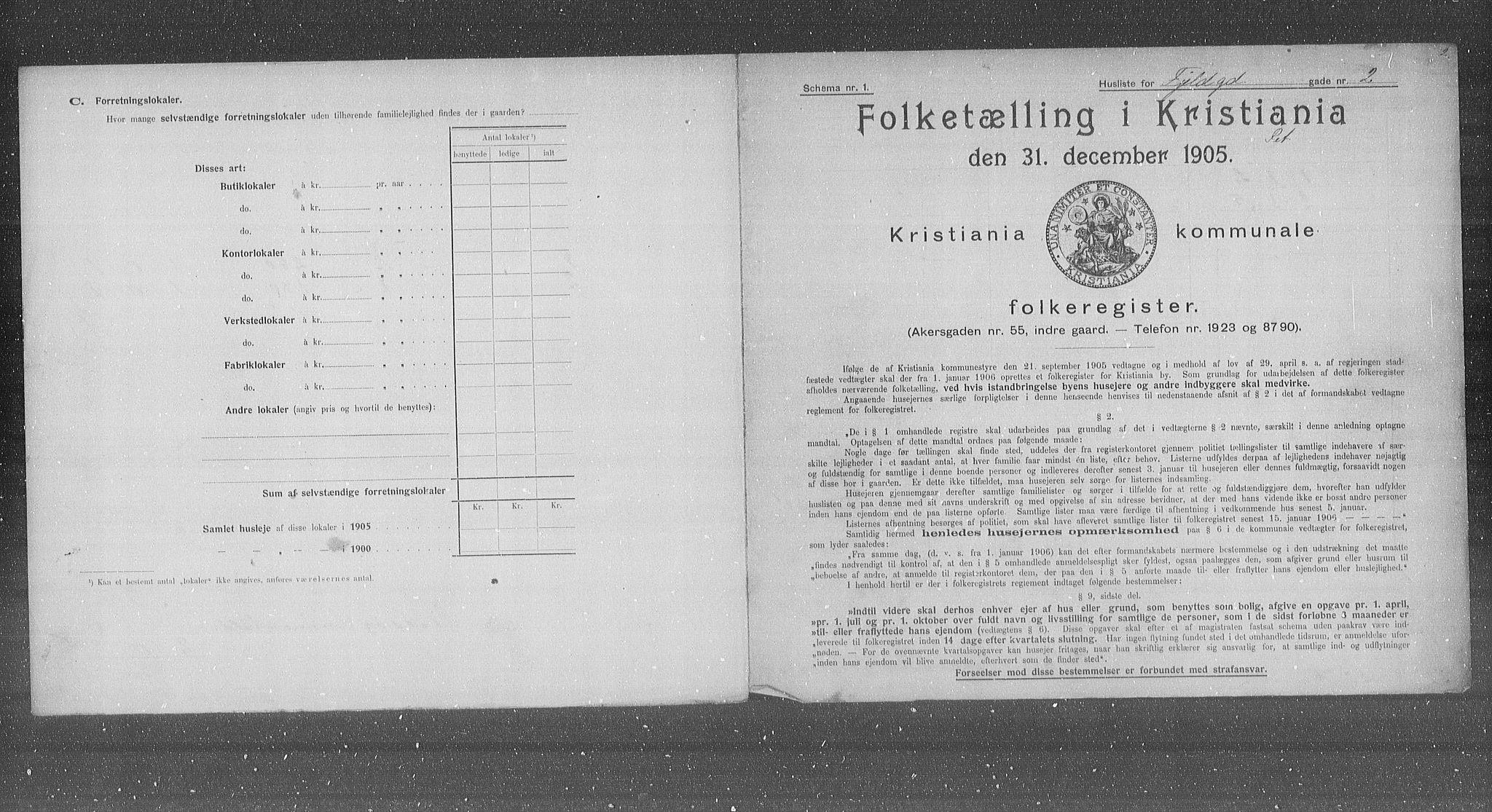OBA, Municipal Census 1905 for Kristiania, 1905, p. 12533