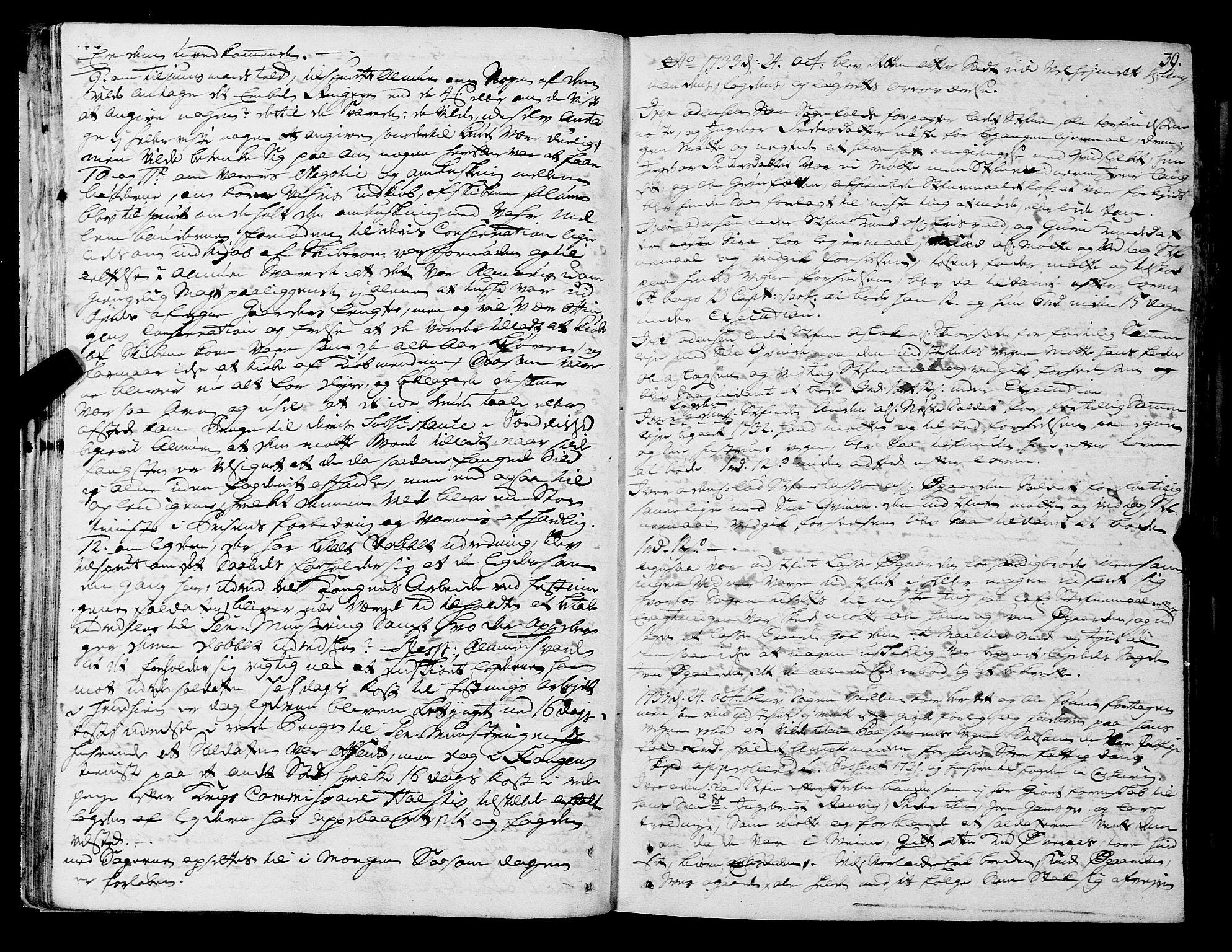 SAT, Romsdal sorenskriveri, 1/1A/L0011: Tingbok, 1732-1740, p. 38b-39a