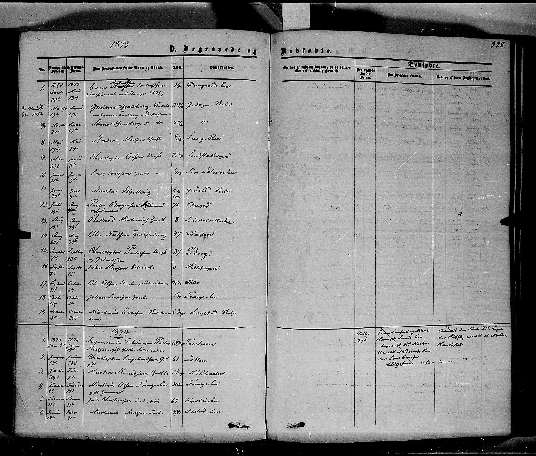 SAH, Stange prestekontor, K/L0013: Parish register (official) no. 13, 1862-1879, p. 328
