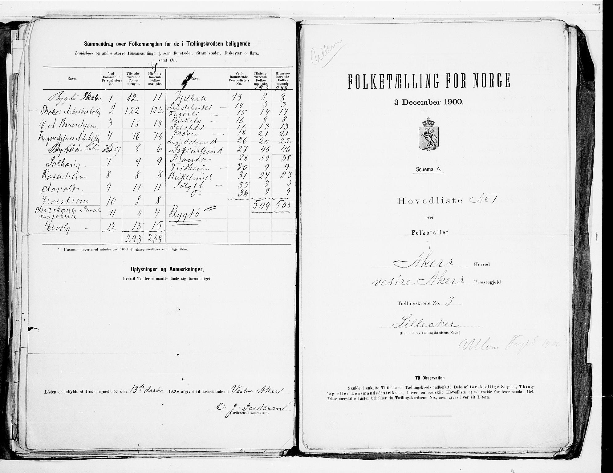 SAO, 1900 census for Aker, 1900, p. 44