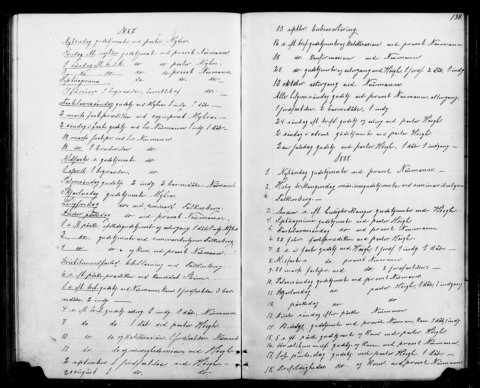 SAT, Ministerialprotokoller, klokkerbøker og fødselsregistre - Sør-Trøndelag, 693/L1123: Parish register (copy) no. 693C04, 1887-1910, p. 134