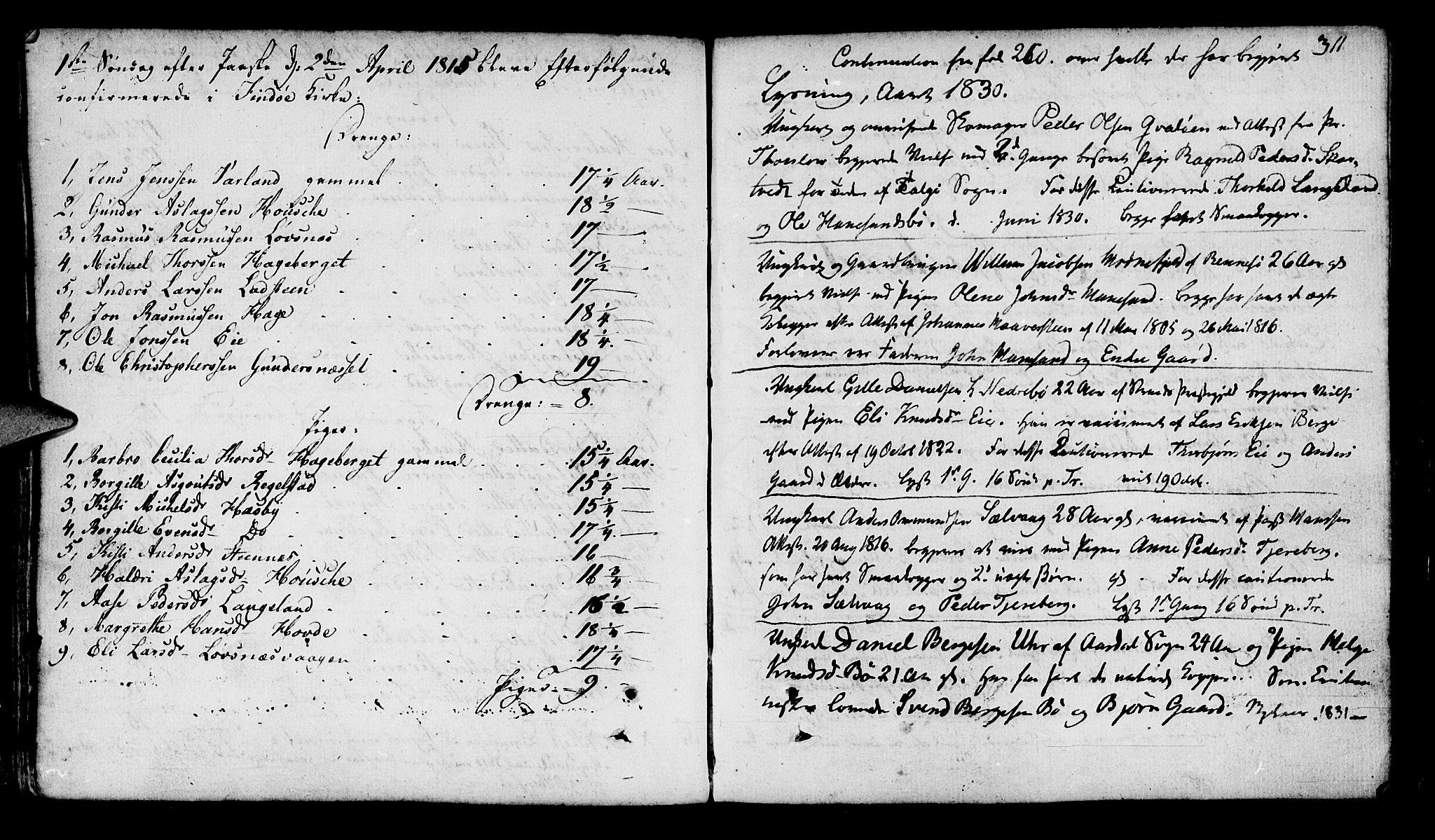 SAST, Finnøy sokneprestkontor, H/Ha/Haa/L0005: Parish register (official) no. A 5, 1773-1816, p. 311