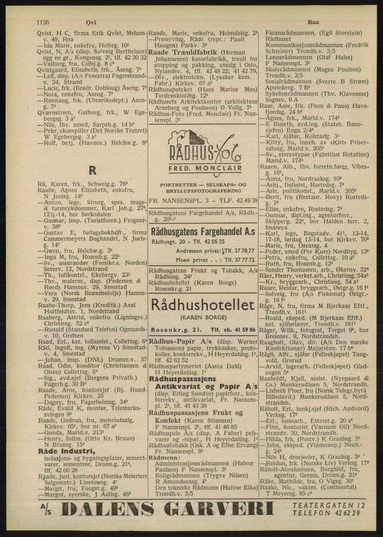 PUBL, Kristiania/Oslo adressebok, 1948, p. 1136