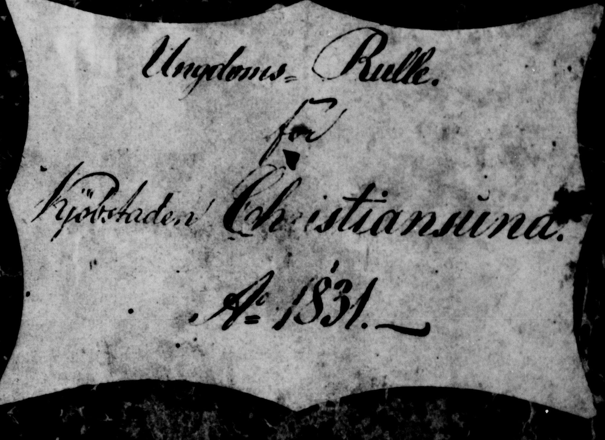 SAT, Sjøinnrulleringen - Trondhjemske distrikt, 01/L0034: --, 1831