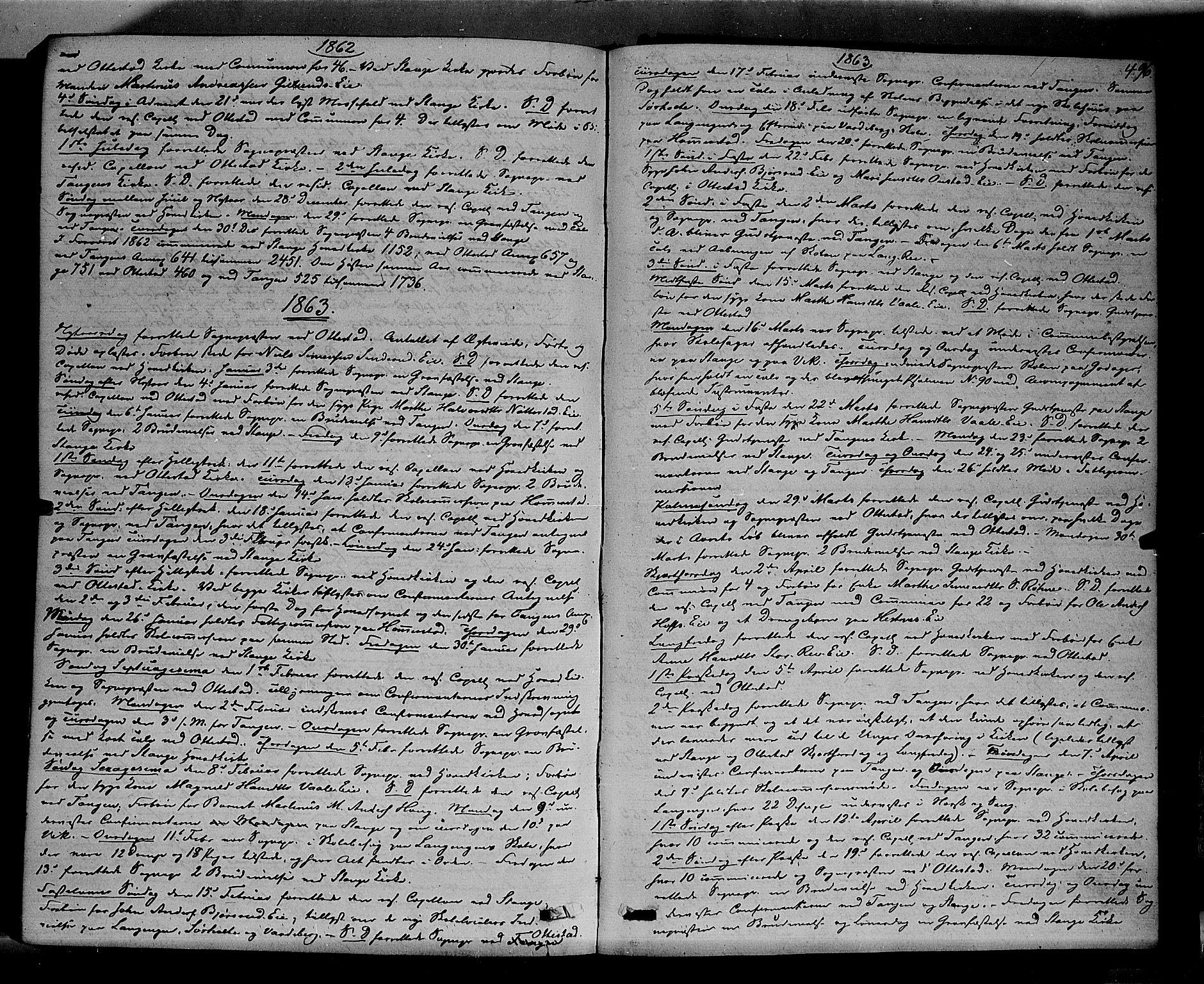 SAH, Stange prestekontor, K/L0013: Parish register (official) no. 13, 1862-1879, p. 496