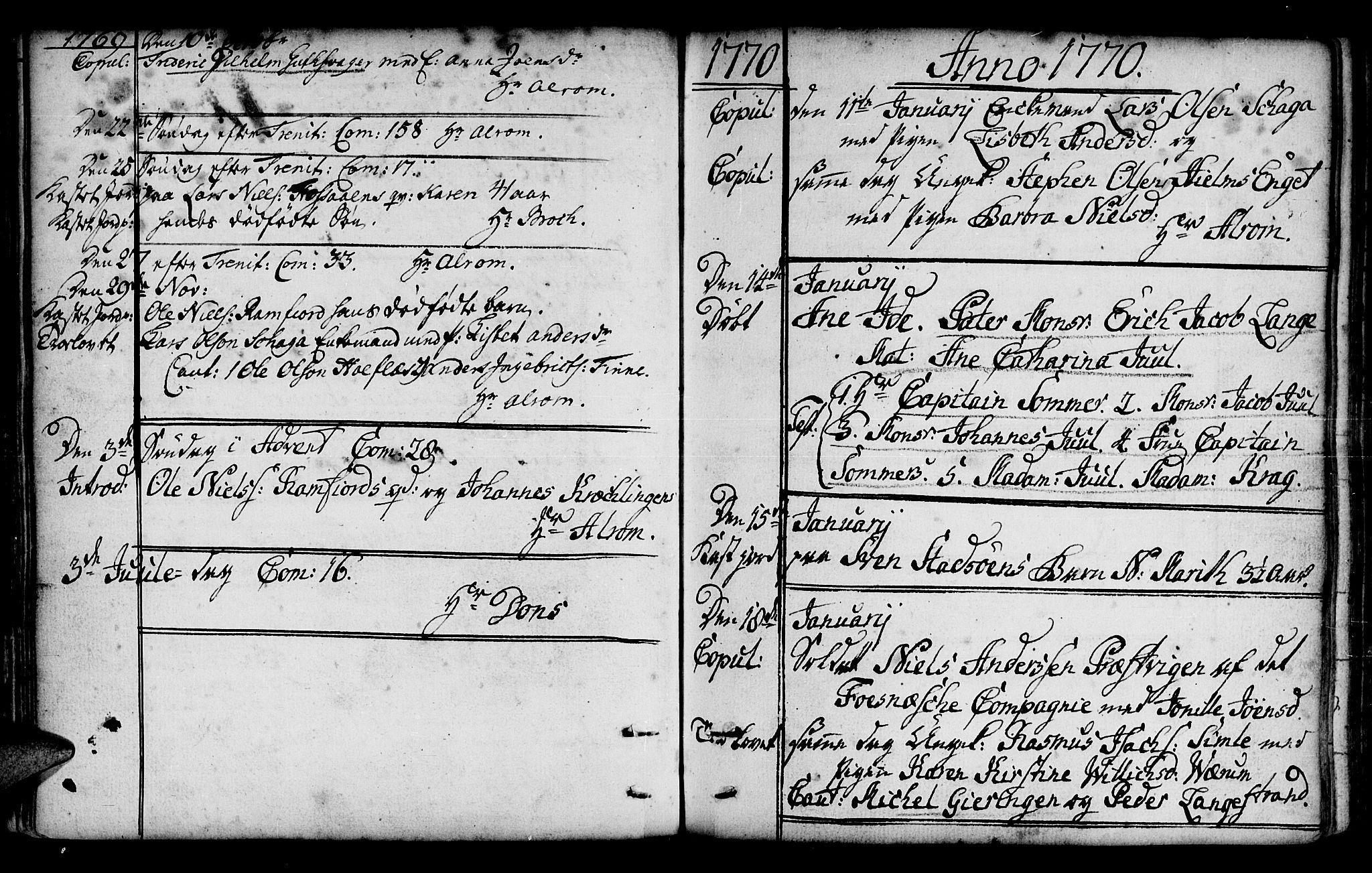 SAT, Ministerialprotokoller, klokkerbøker og fødselsregistre - Nord-Trøndelag, 780/L0632: Parish register (official) no. 780A01, 1736-1786