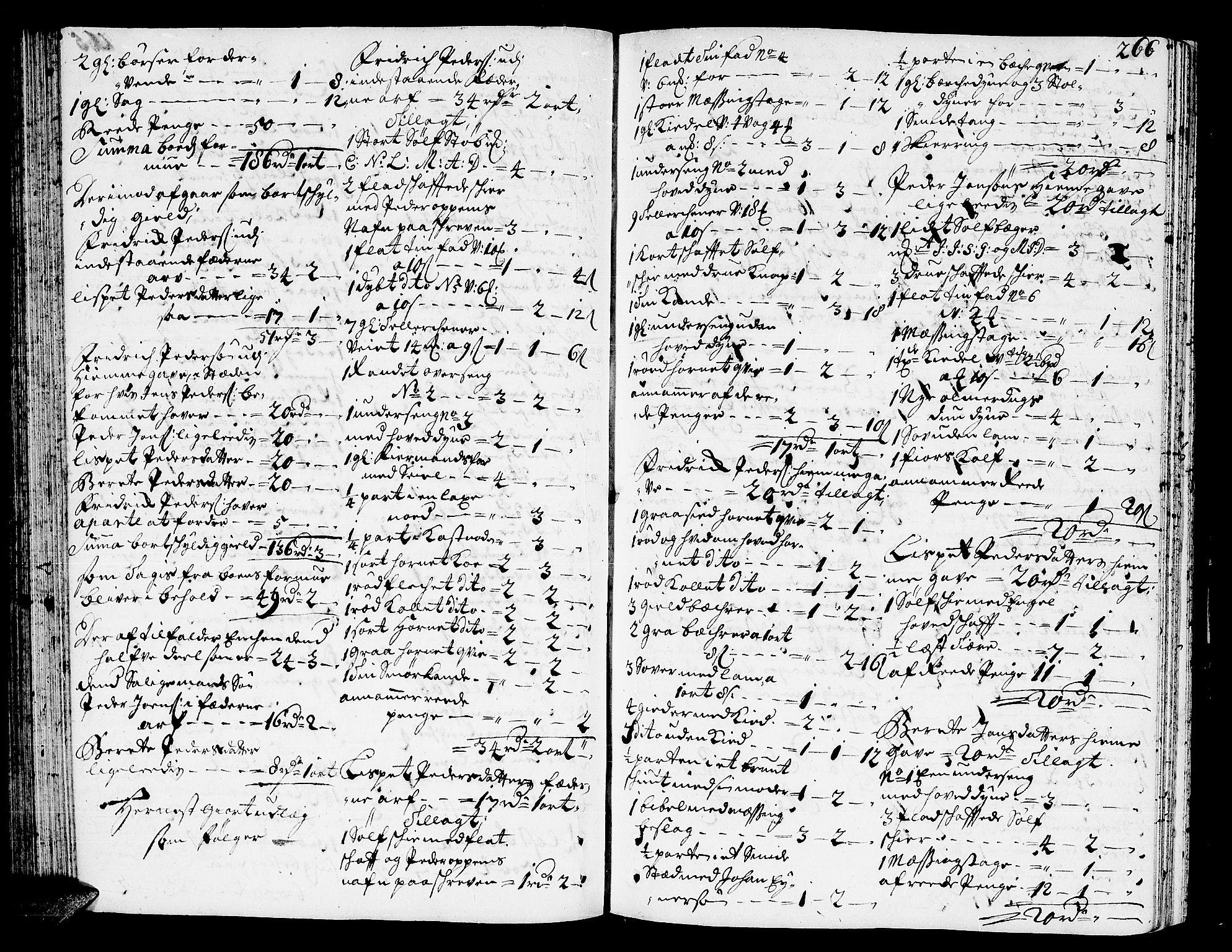 SAT, Romsdal sorenskriveri, 3/3A/L0005: Skifteprotokoll, 1707-1711, p. 265b-266a