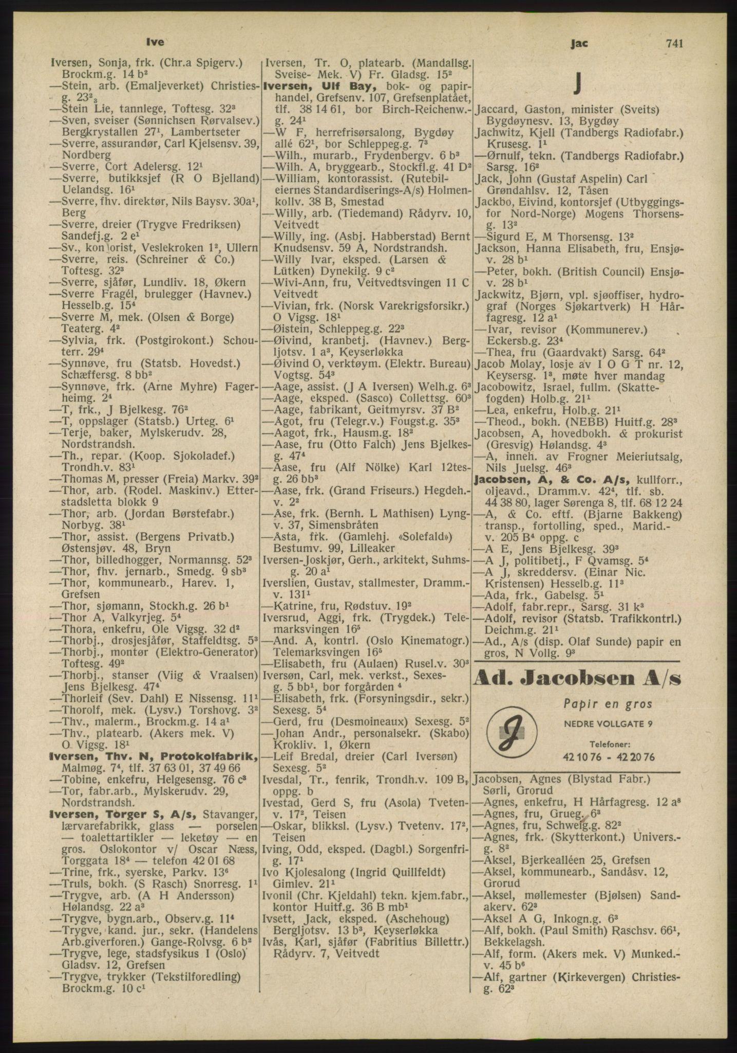 PUBL, Kristiania/Oslo adressebok, 1955, p. 741