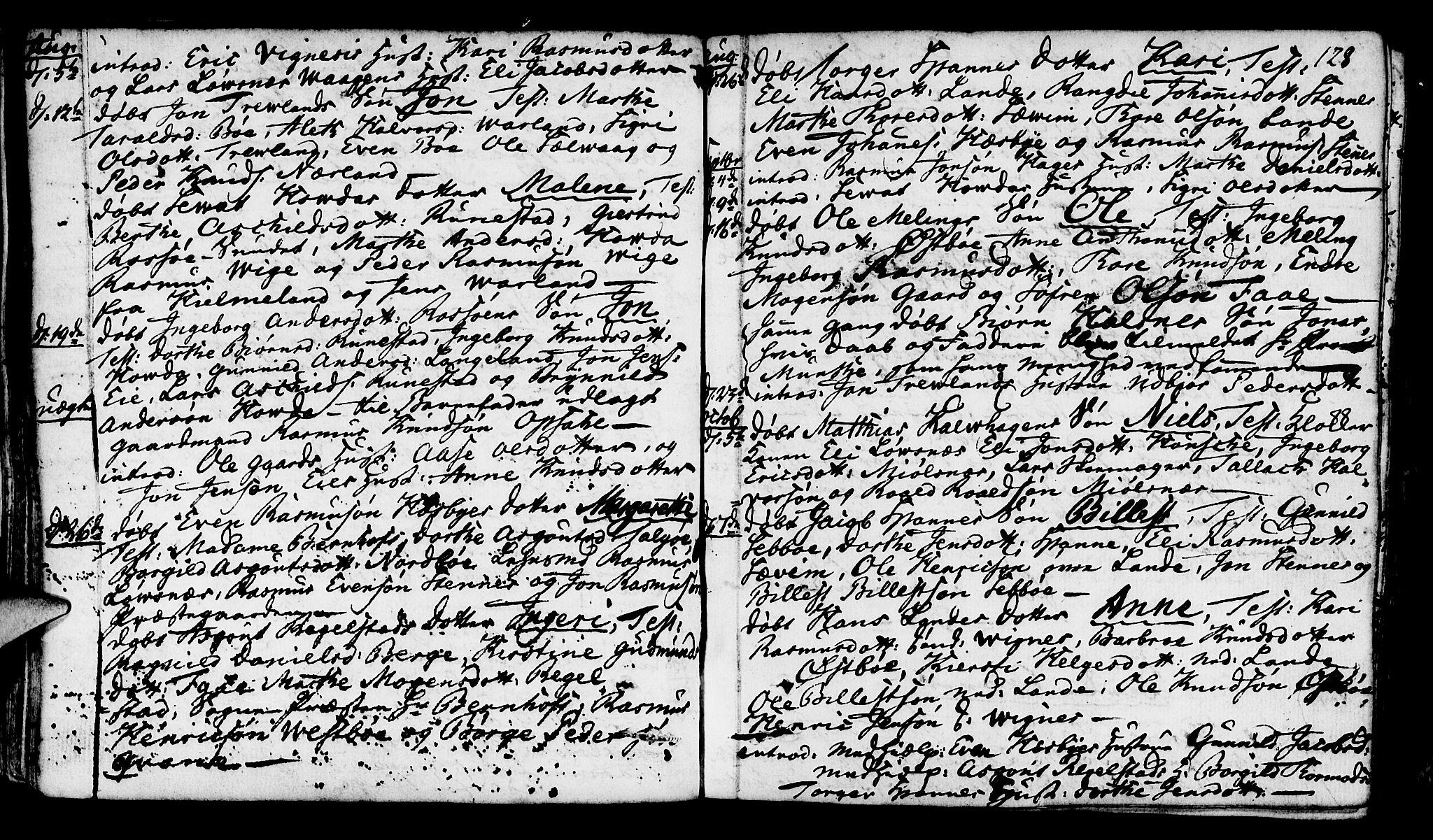 SAST, Finnøy sokneprestkontor, H/Ha/Haa/L0005: Parish register (official) no. A 5, 1773-1816, p. 128
