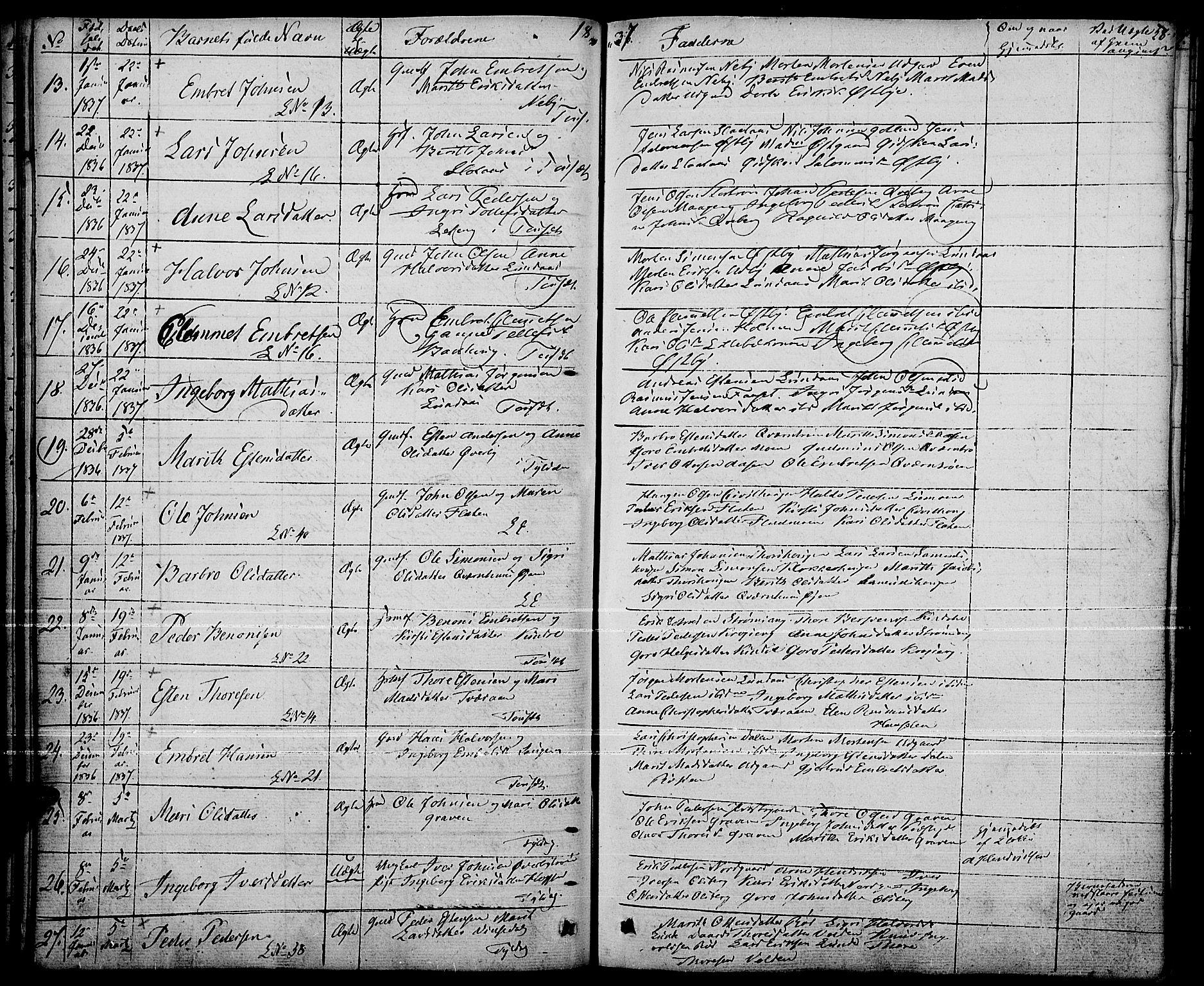 SAH, Tynset prestekontor, Parish register (official) no. 19, 1829-1847, p. 58