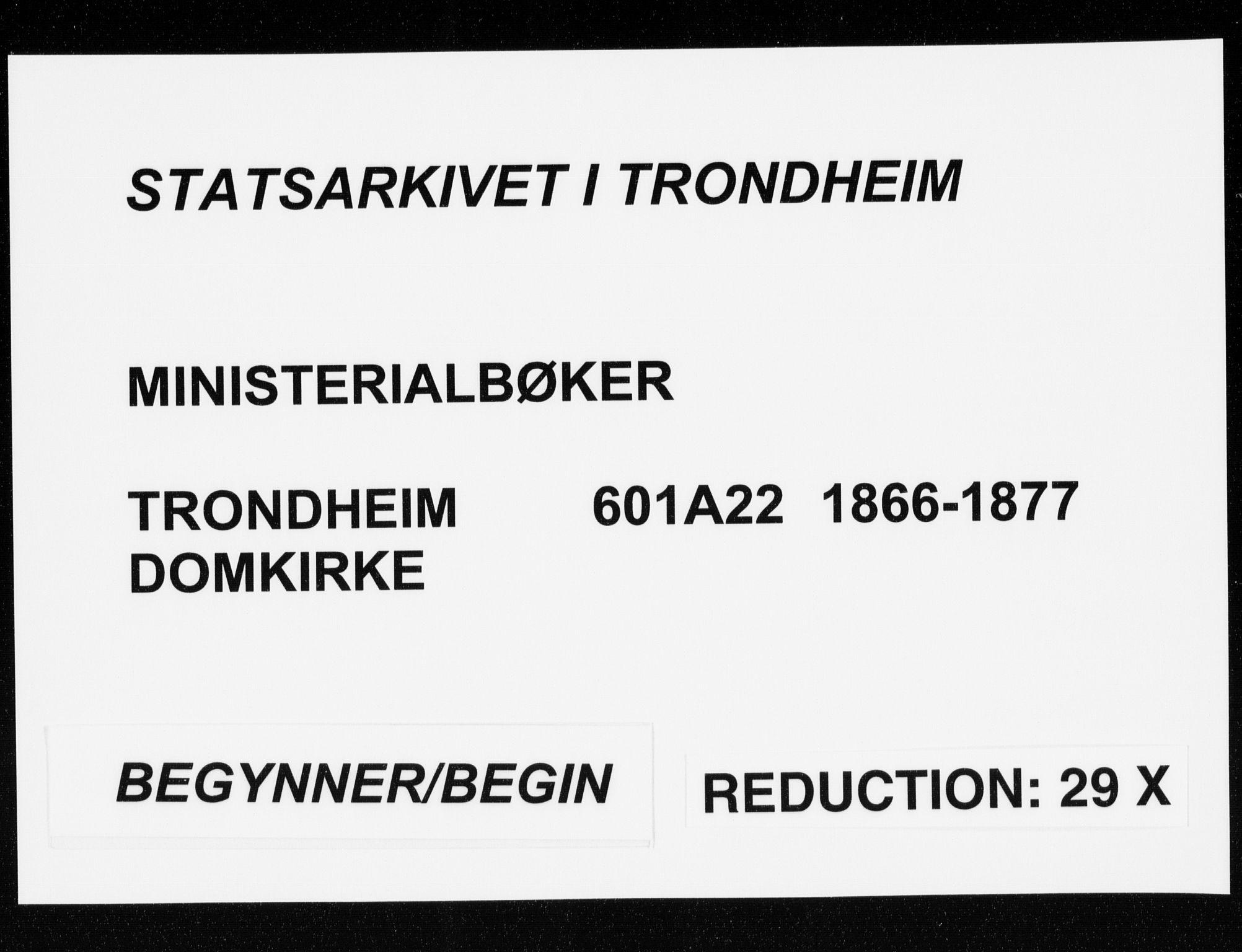 SAT, Ministerialprotokoller, klokkerbøker og fødselsregistre - Sør-Trøndelag, 601/L0054: Parish register (official) no. 601A22, 1866-1877