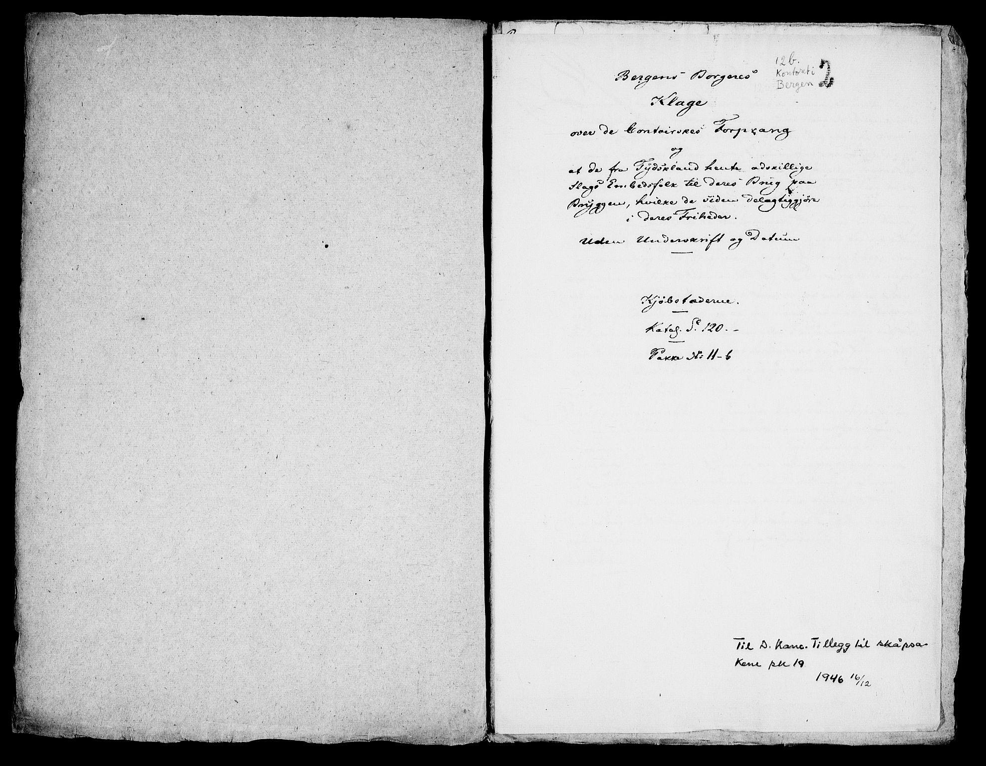 RA, Danske Kanselli, Skapsaker, G/L0019: Tillegg til skapsakene, 1616-1753, p. 47