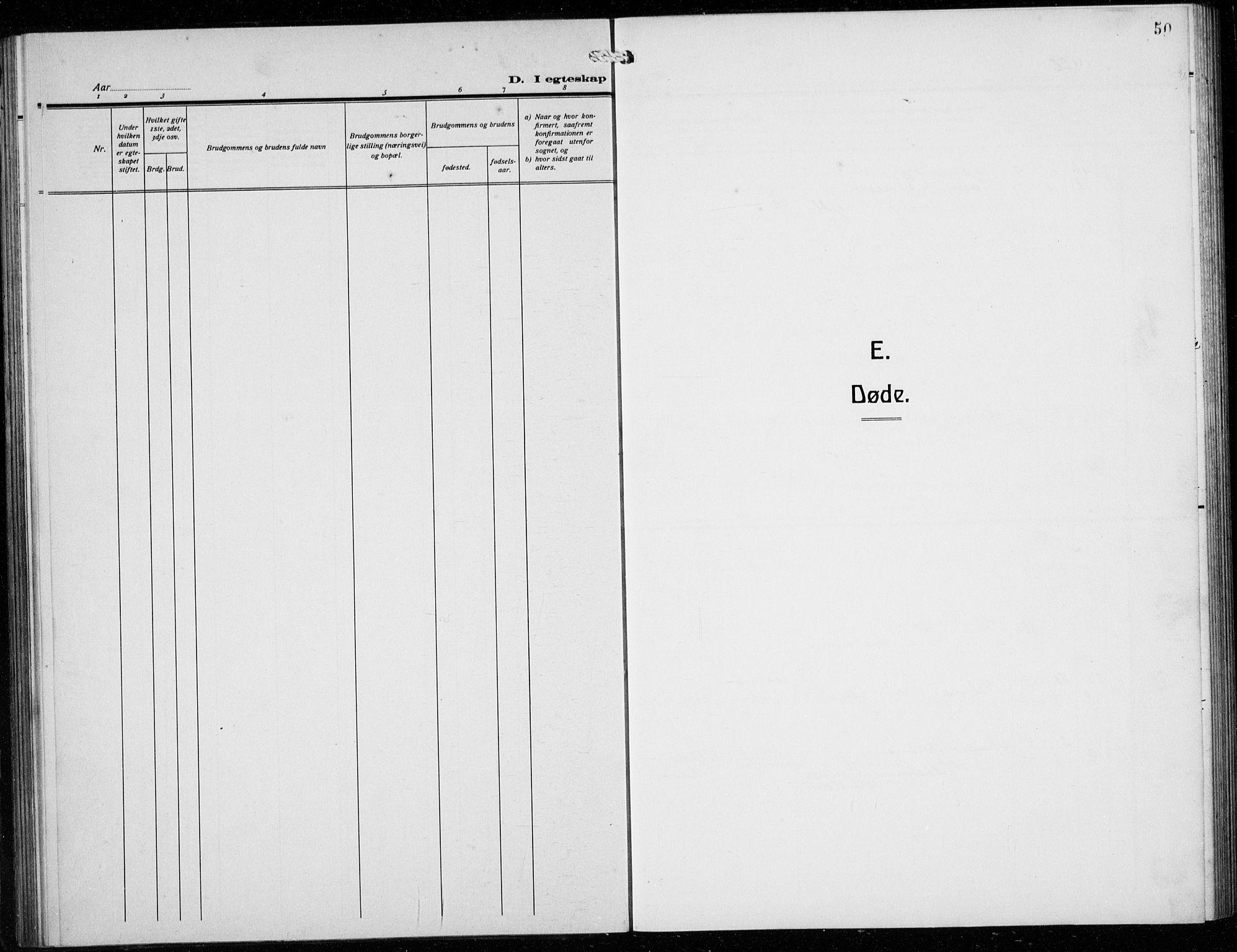 SAB, Den norske sjømannsmisjon i utlandet/Syd-Amerika (Buenos Aires m.fl.), H/Ha/L0003: Parish register (official) no. A 3, 1920-1938, p. 50
