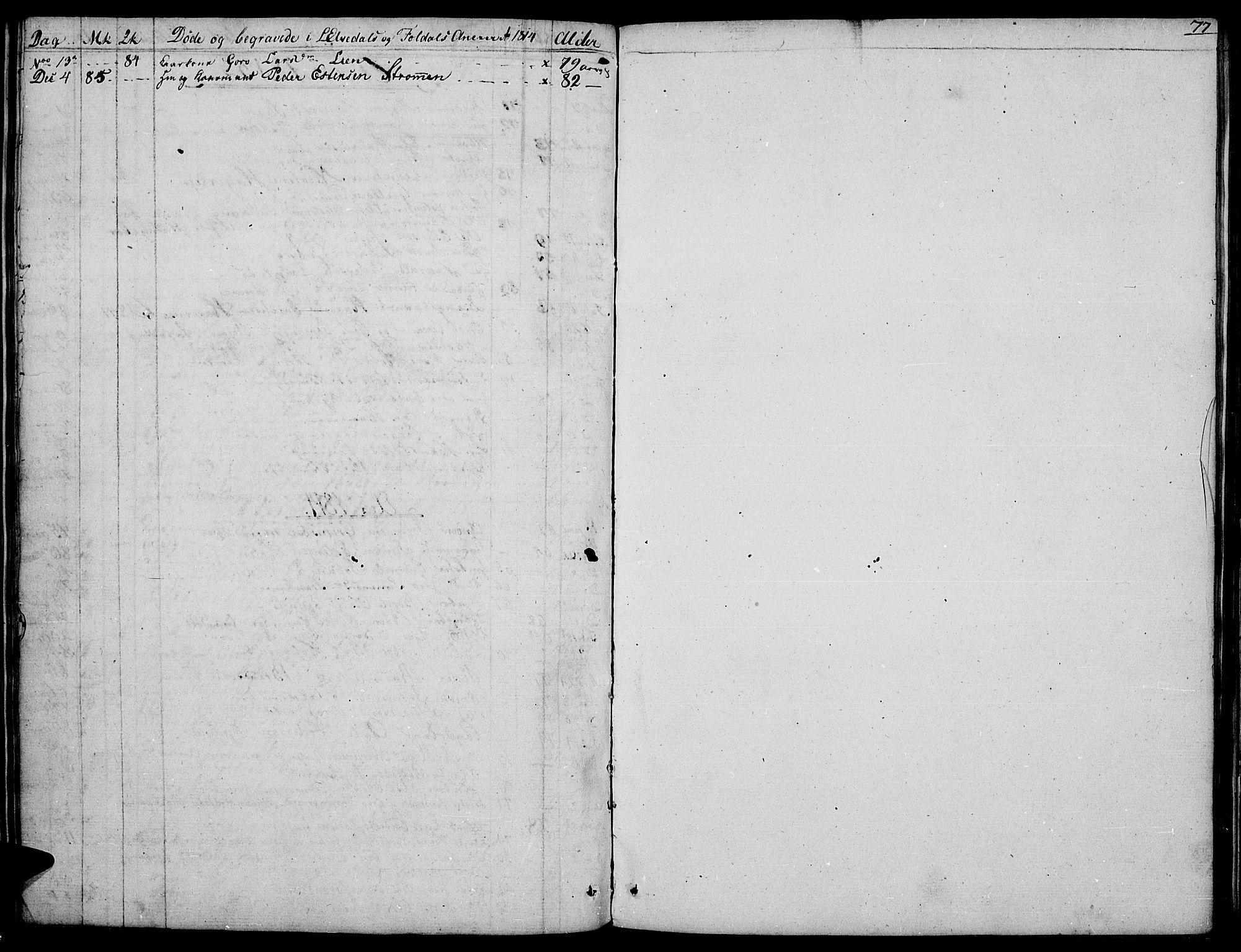 SAH, Tynset prestekontor, Parish register (official) no. 16, 1801-1814, p. 77