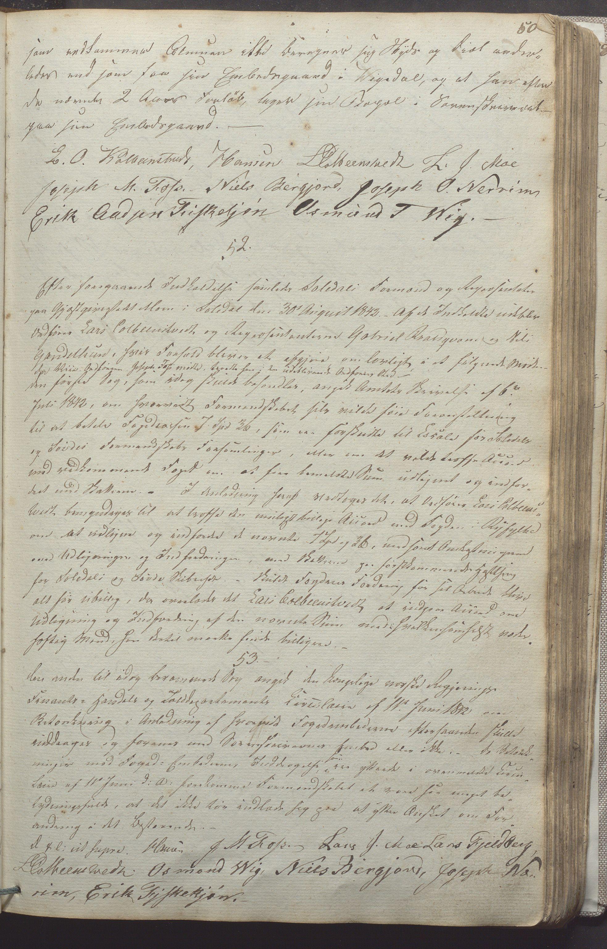 IKAR, Suldal kommune - Formannskapet/Rådmannen, A/Aa/L0001: Møtebok, 1837-1876, p. 50a