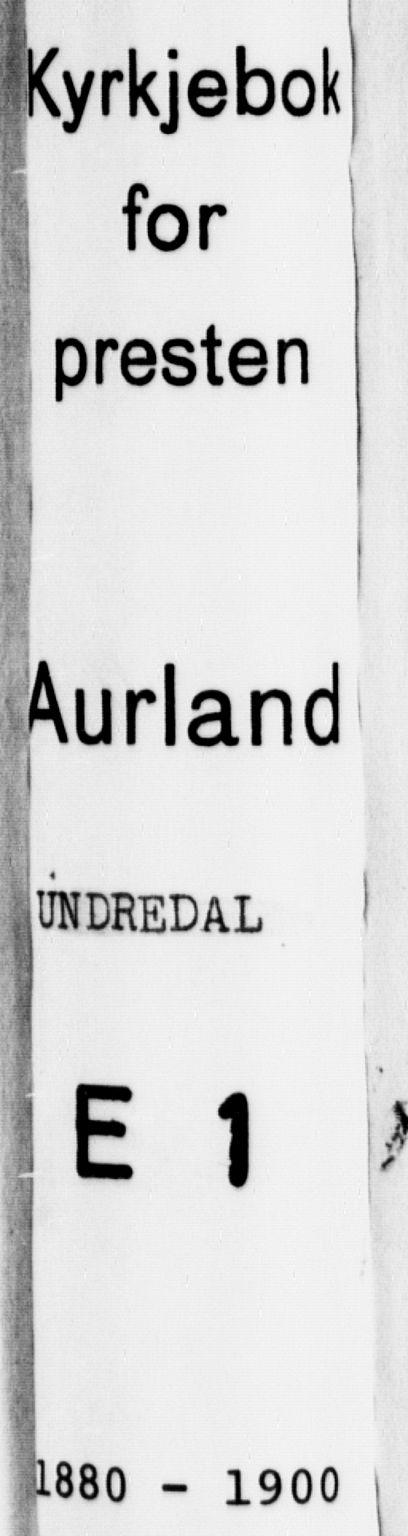 SAB, Aurland Sokneprestembete*, Parish register (official) no. E 1, 1880-1907