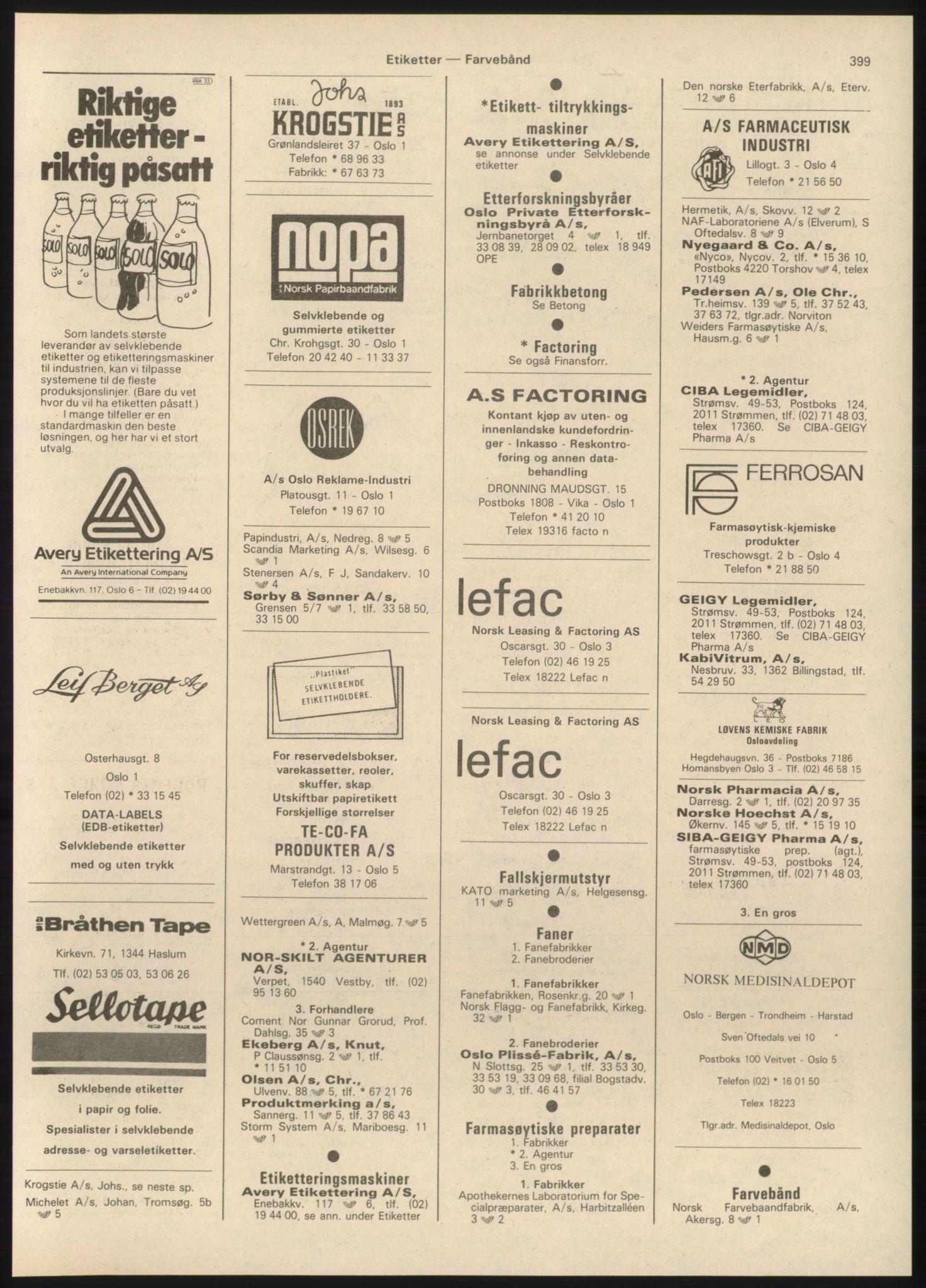 PUBL, Kristiania/Oslo adressebok, 1980-1981, p. 399