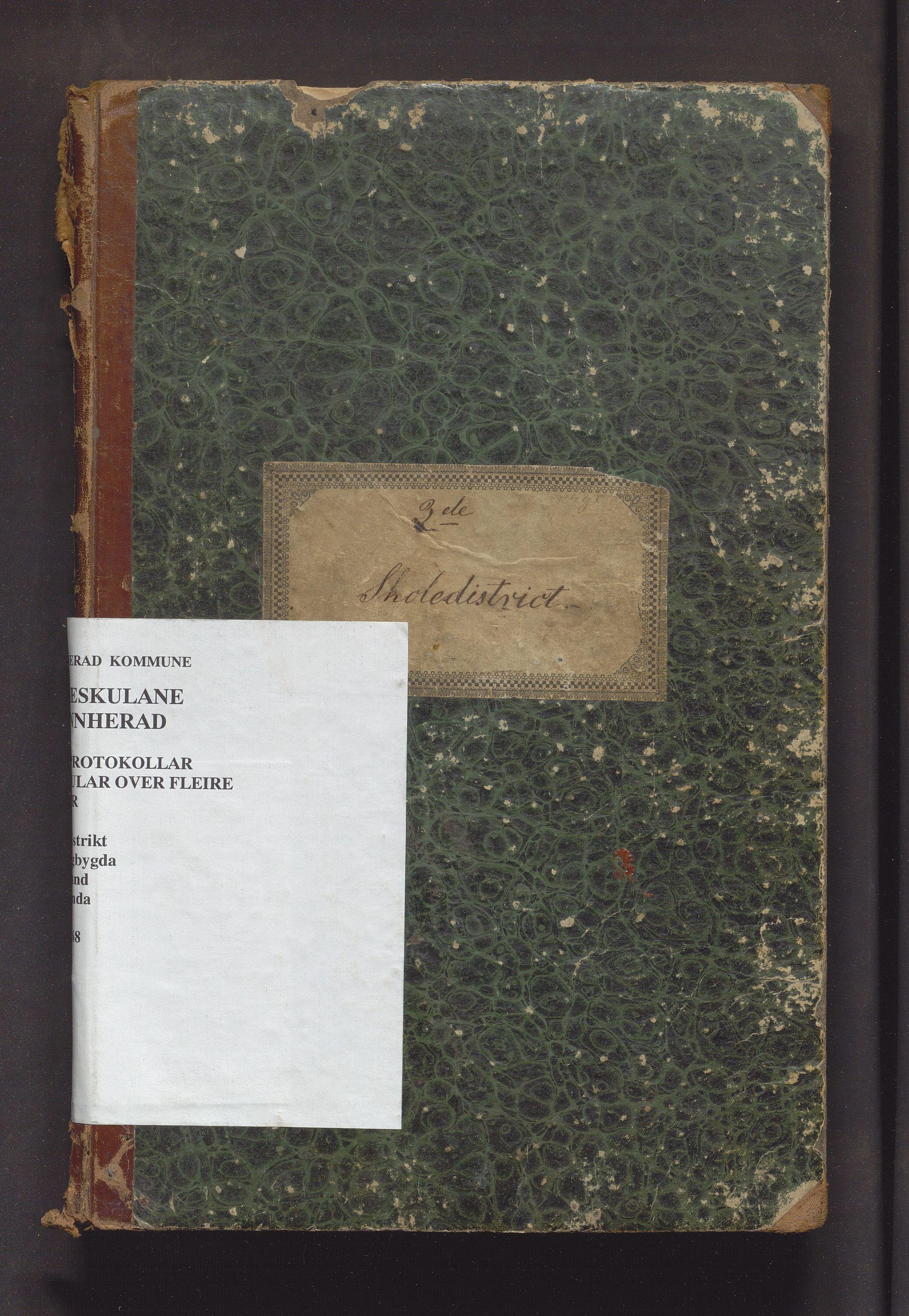 IKAH, Kvinnherad kommune. Barneskulane, F/Fa/L0001: Skuleprotokoll for omgangsskulen i 3 skuledistrikt , 1845-1868