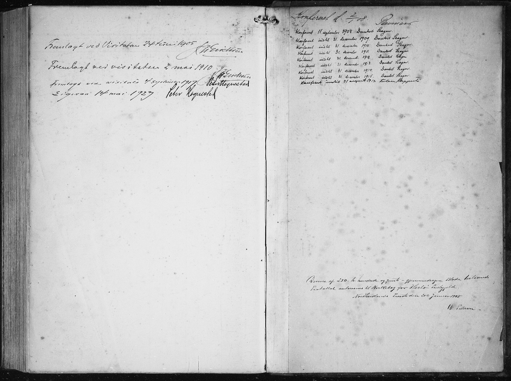 SAB, Herdla Sokneprestembete, H/Haa: Parish register (official) no. A 5, 1905-1918