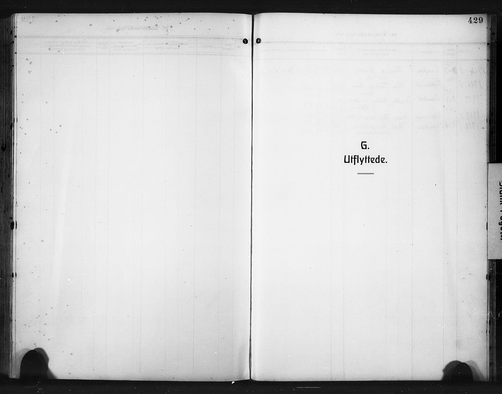 SAST, Høyland sokneprestkontor, 30BA/L0017: Parish register (official) no. A 15, 1912-1924, p. 429