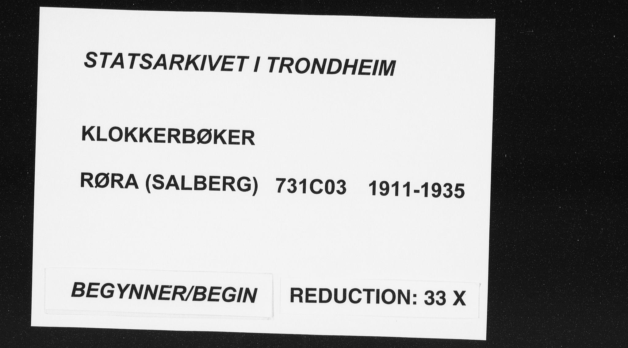 SAT, Ministerialprotokoller, klokkerbøker og fødselsregistre - Nord-Trøndelag, 731/L0312: Parish register (copy) no. 731C03, 1911-1935