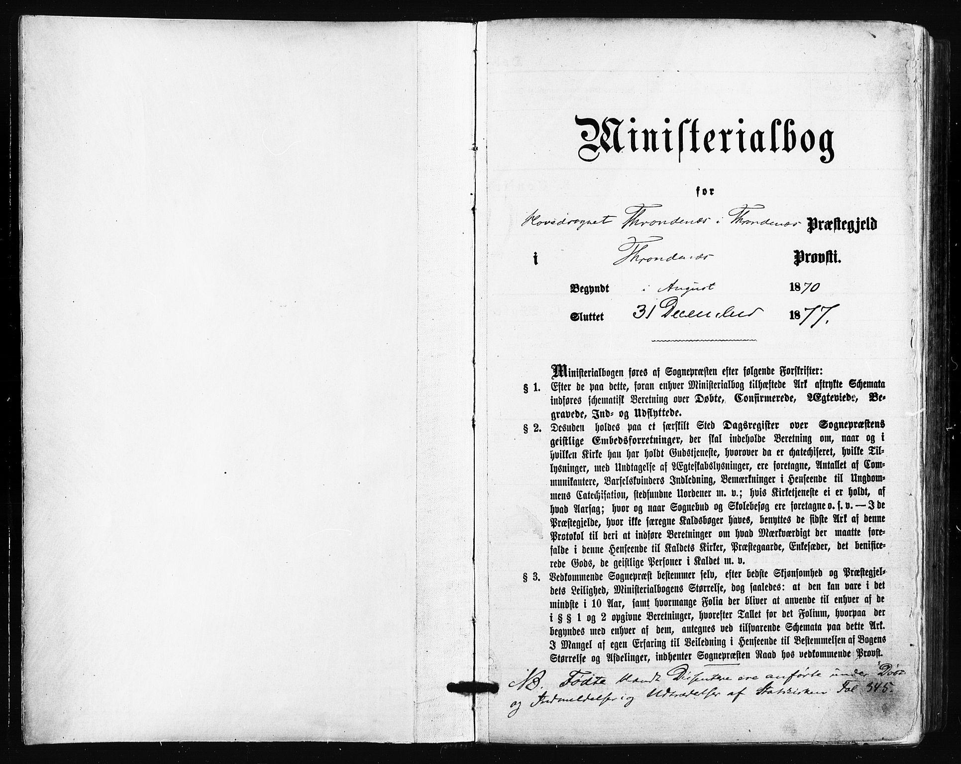 SATØ, Trondenes sokneprestkontor, H/Ha/L0013kirke: Parish register (official) no. 13, 1870-1878
