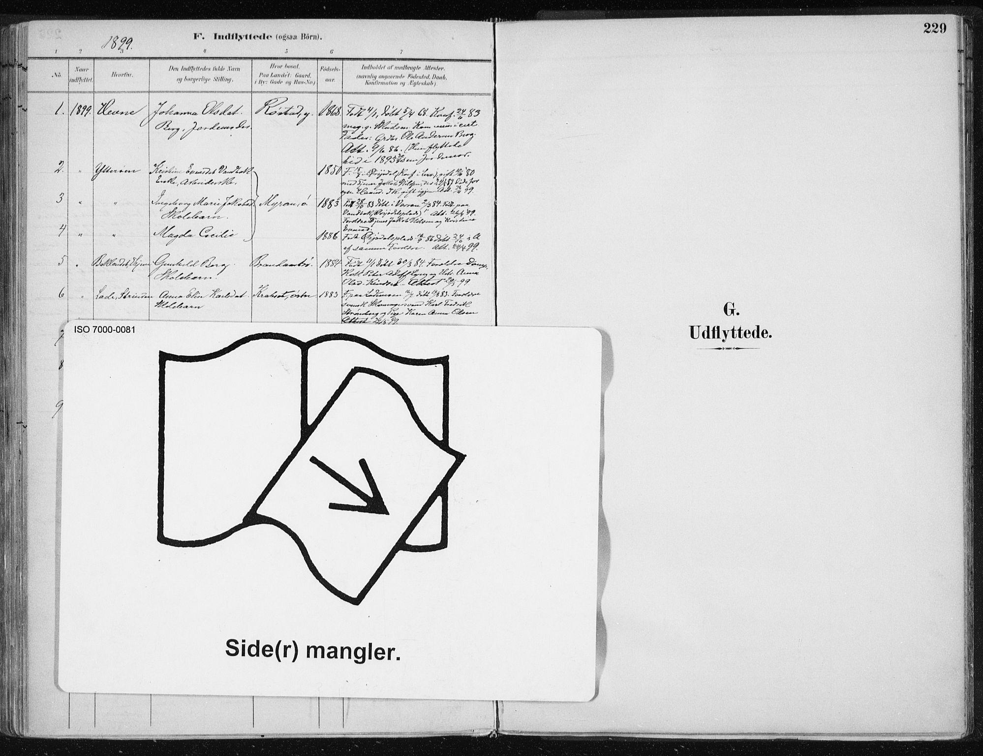 SAT, Ministerialprotokoller, klokkerbøker og fødselsregistre - Nord-Trøndelag, 701/L0010: Parish register (official) no. 701A10, 1883-1899, p. 229