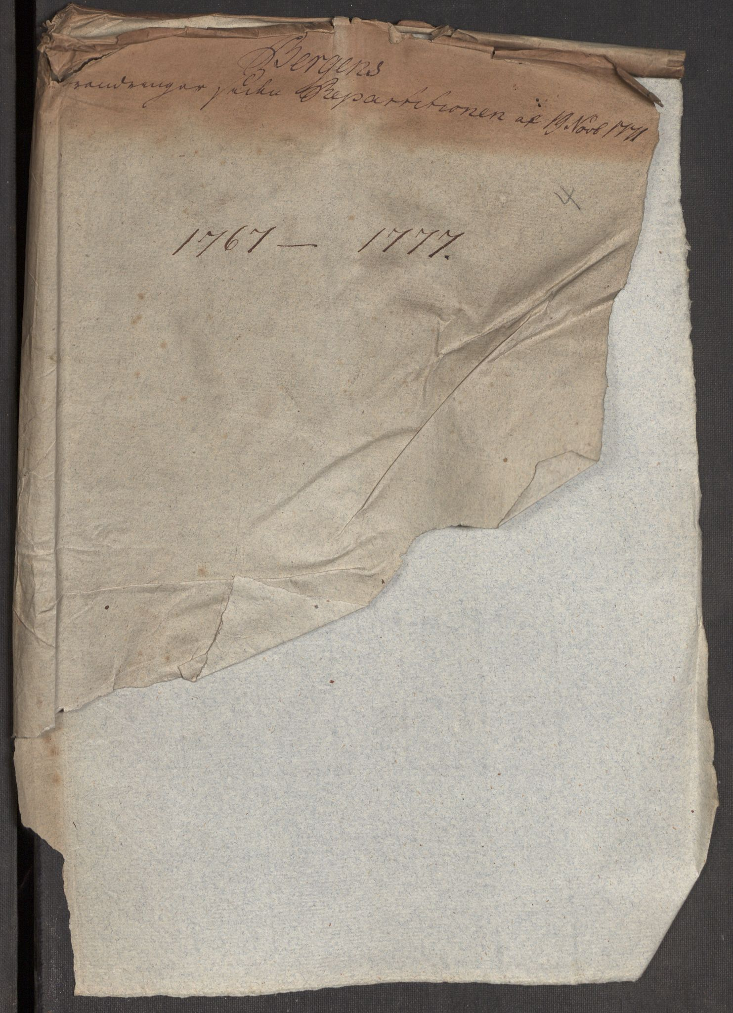 RA, Kommersekollegiet, Brannforsikringskontoret 1767-1814, F/Fa/L0004: Bergen, 1767-1777