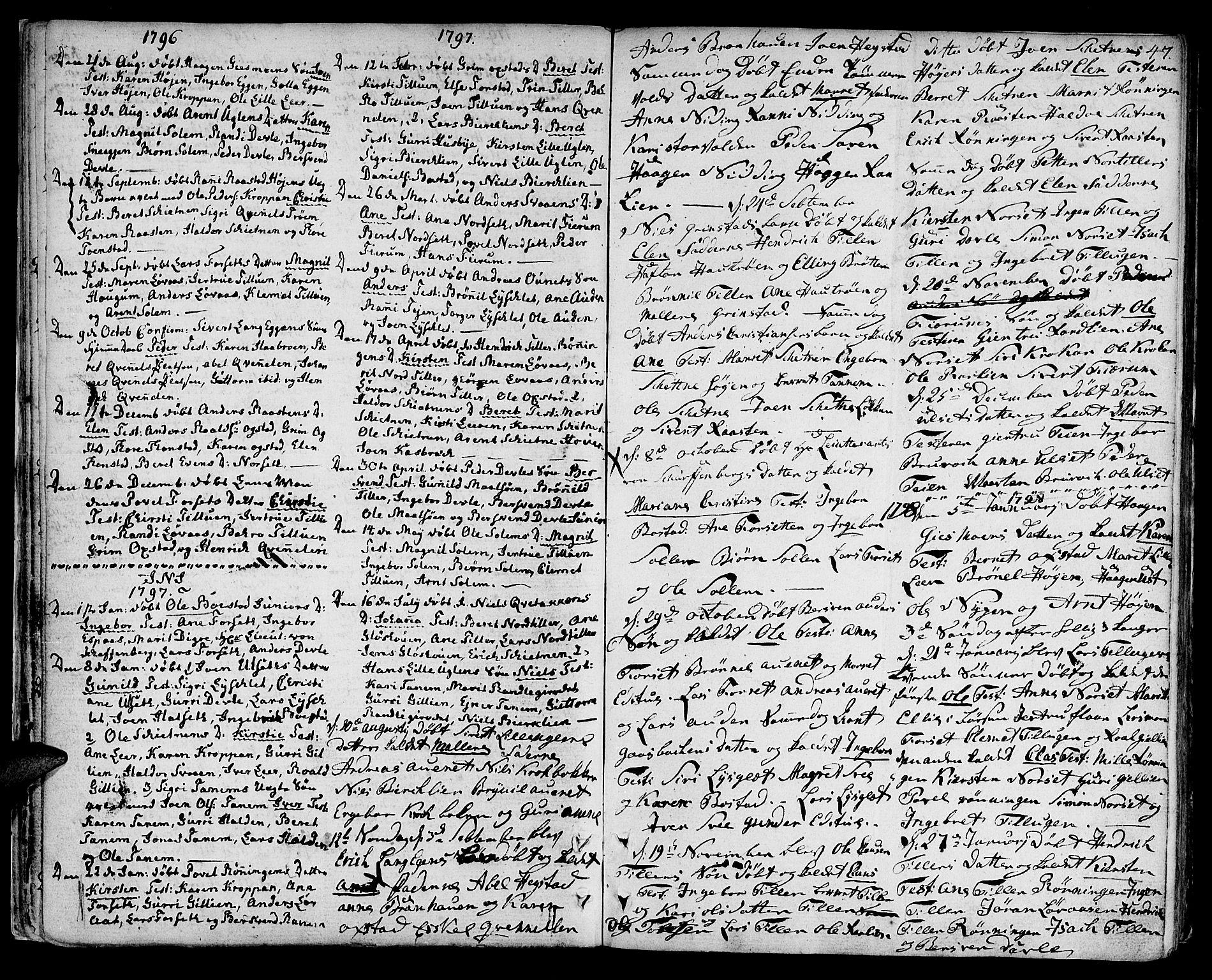 SAT, Ministerialprotokoller, klokkerbøker og fødselsregistre - Sør-Trøndelag, 618/L0438: Parish register (official) no. 618A03, 1783-1815, p. 47