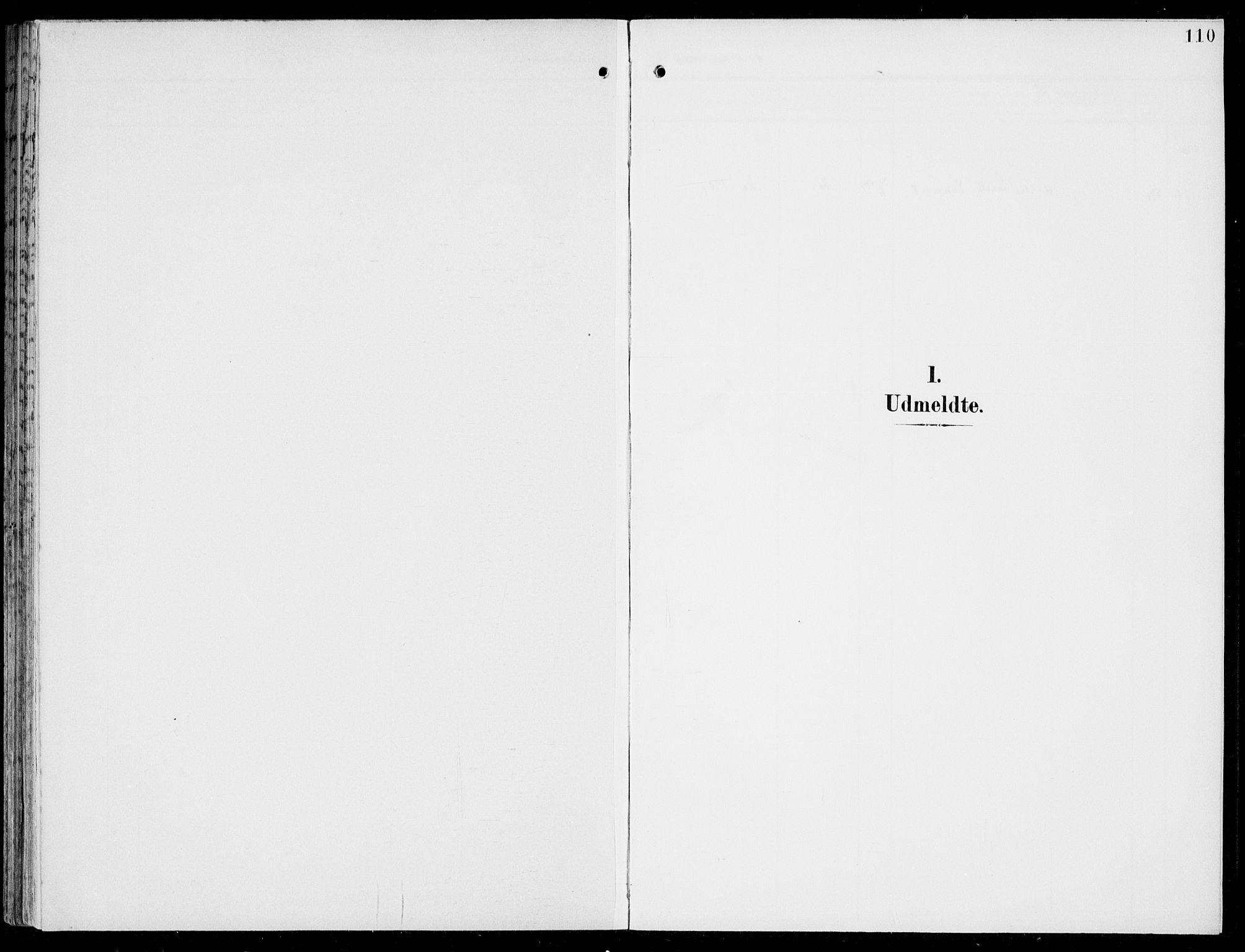 SAB, Hosanger Sokneprestembete, H/Haa: Parish register (official) no. C  2, 1901-1925, p. 110