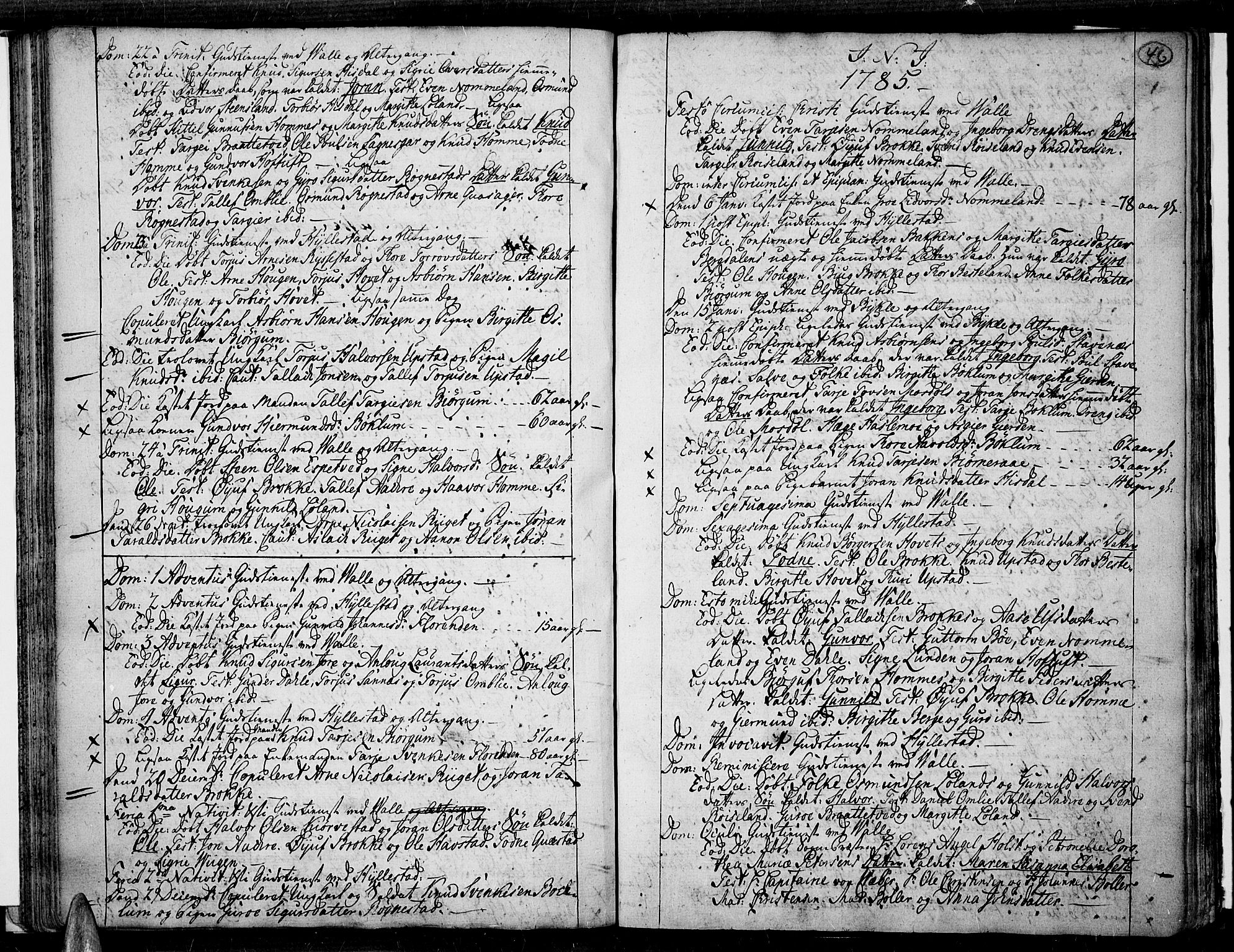 SAK, Valle sokneprestkontor, F/Fa/Fac/L0003: Parish register (official) no. A 3, 1776-1790, p. 46